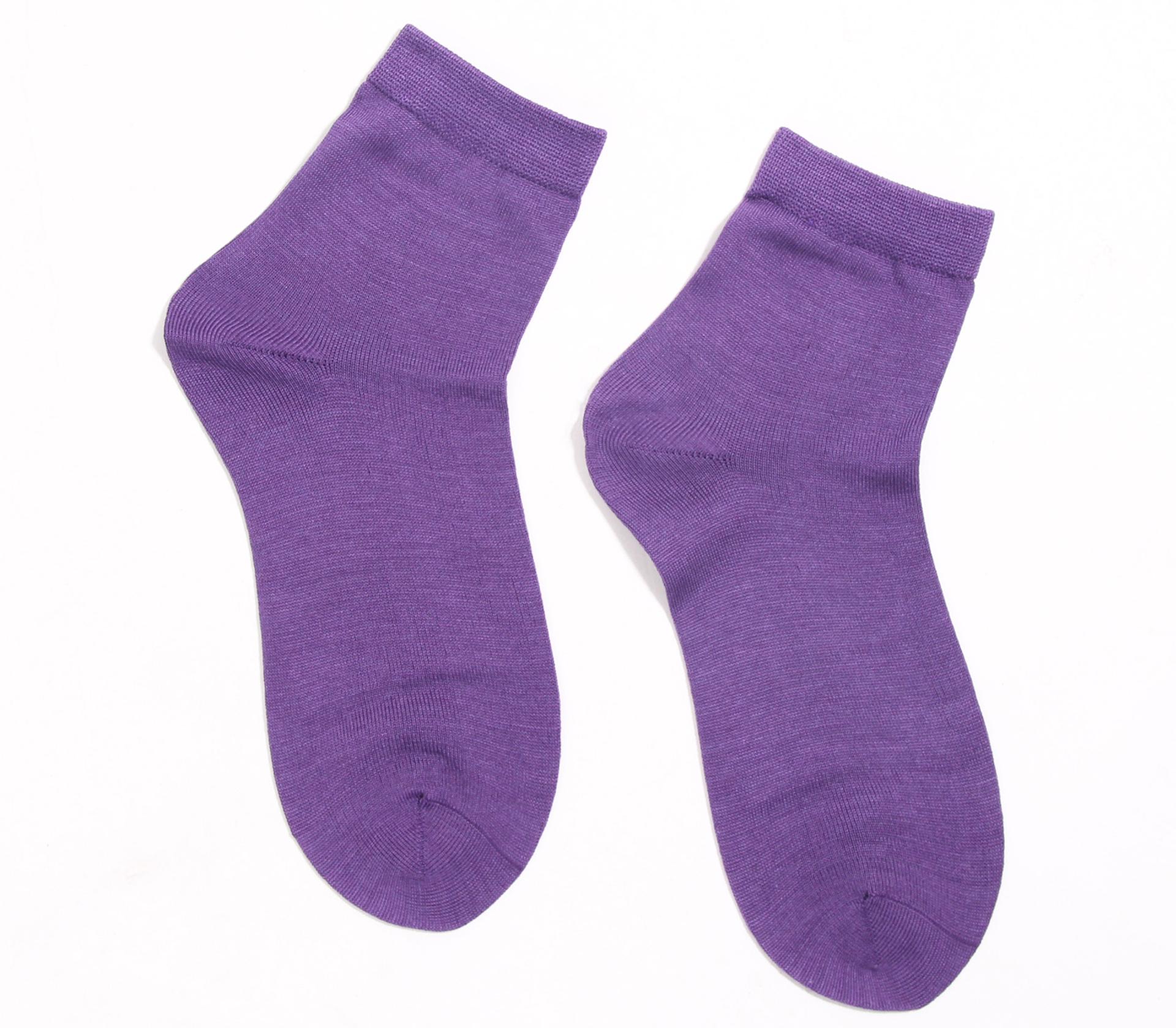 闕蘭絹舒適自在彈性蠶絲襪(淺紫)(22-24CM)