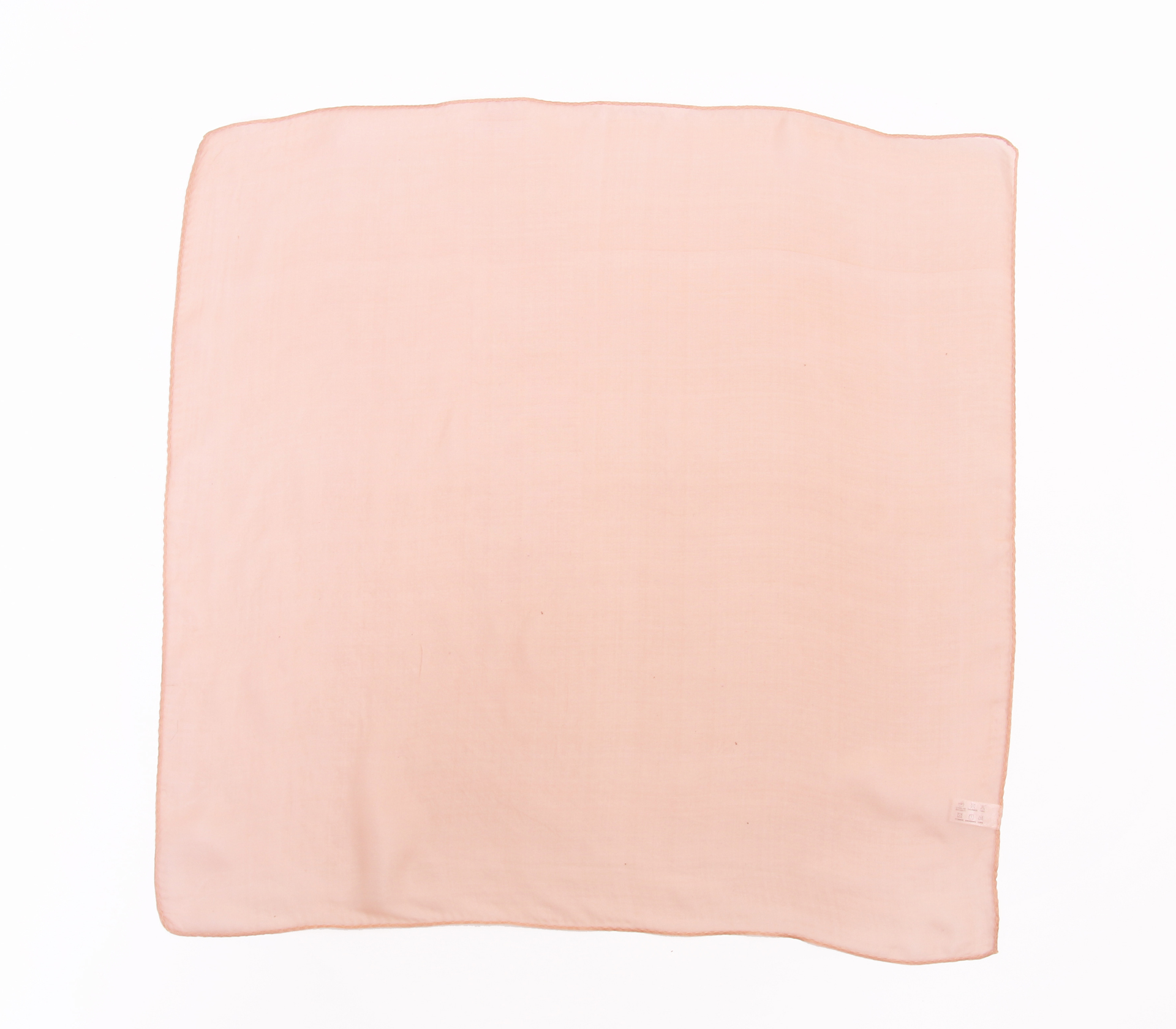 素面雪紡100%蠶絲絲巾50*50CM  - 1101 - 粉