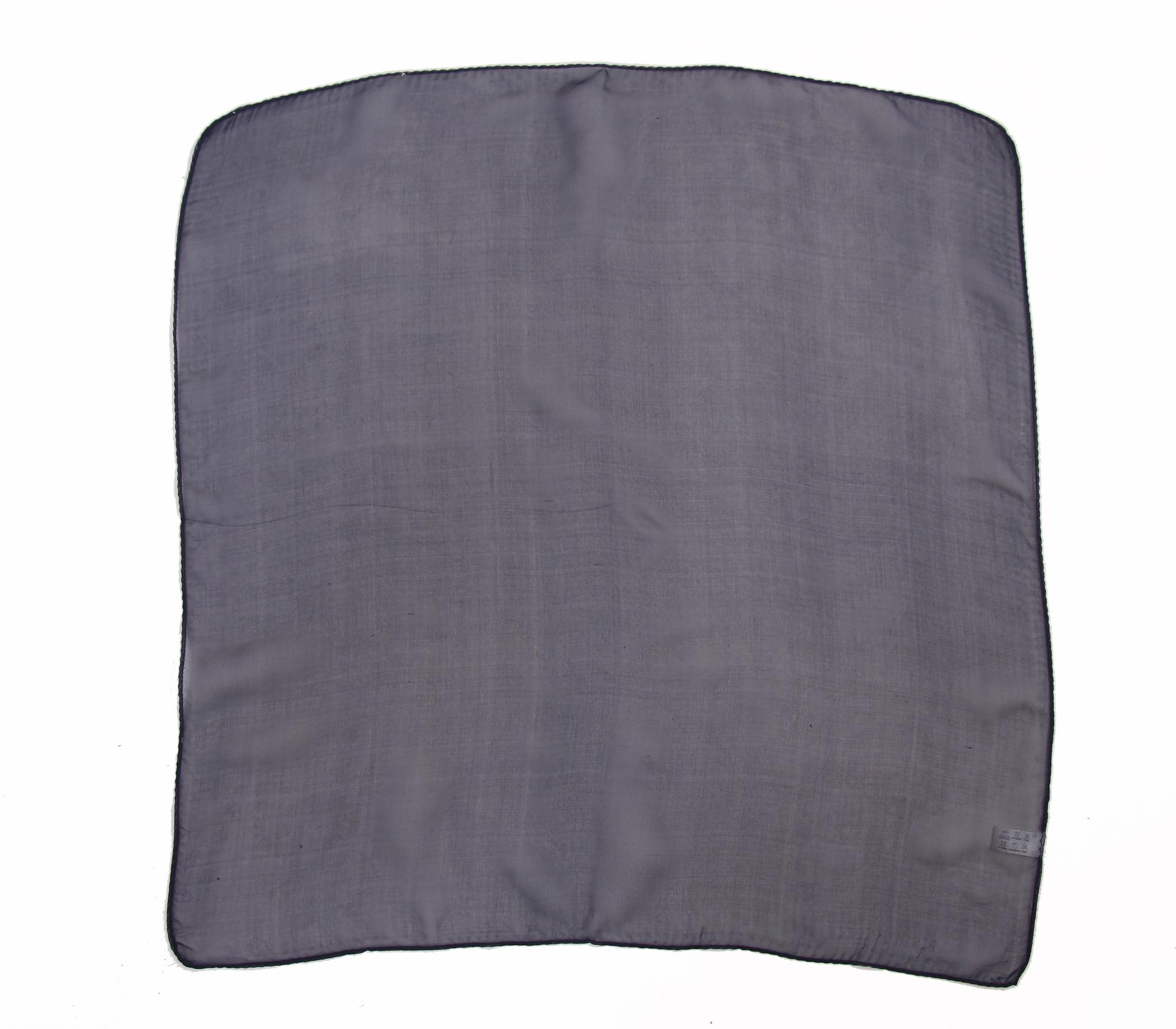 素面雪紡100%蠶絲絲巾50*50CM  - 1101 - 灰