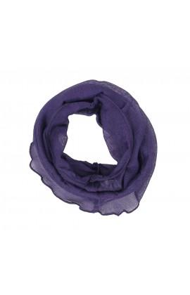 素面100%蠶絲圍脖  - 1117 - 紫