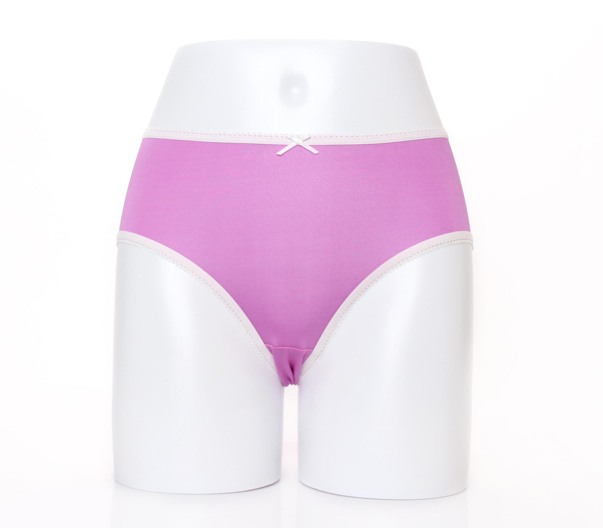 闕蘭絹清新甜美100%蠶絲內褲-2211(紫)