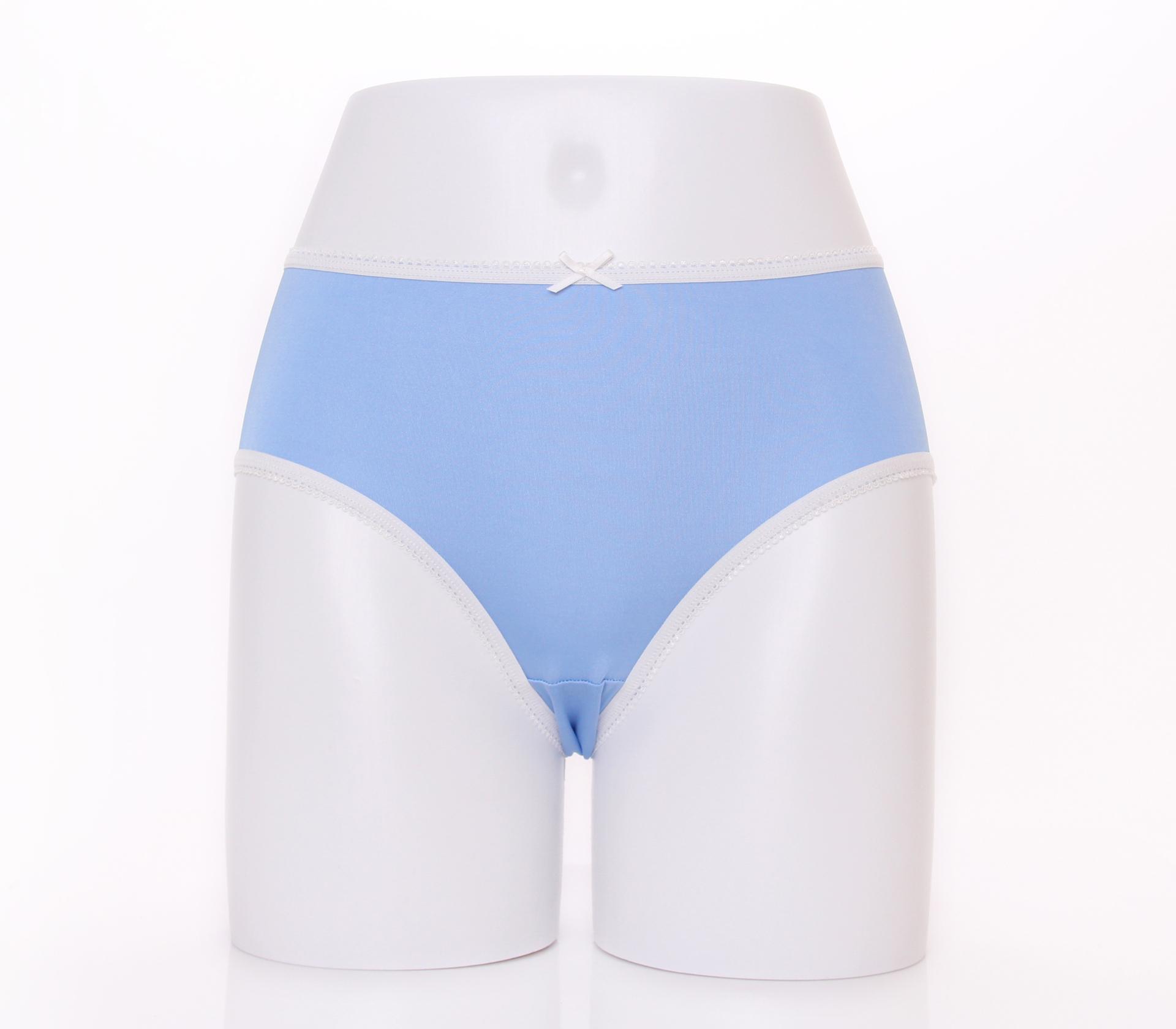 闕蘭絹清新甜美100%蠶絲內褲-2211(藍)