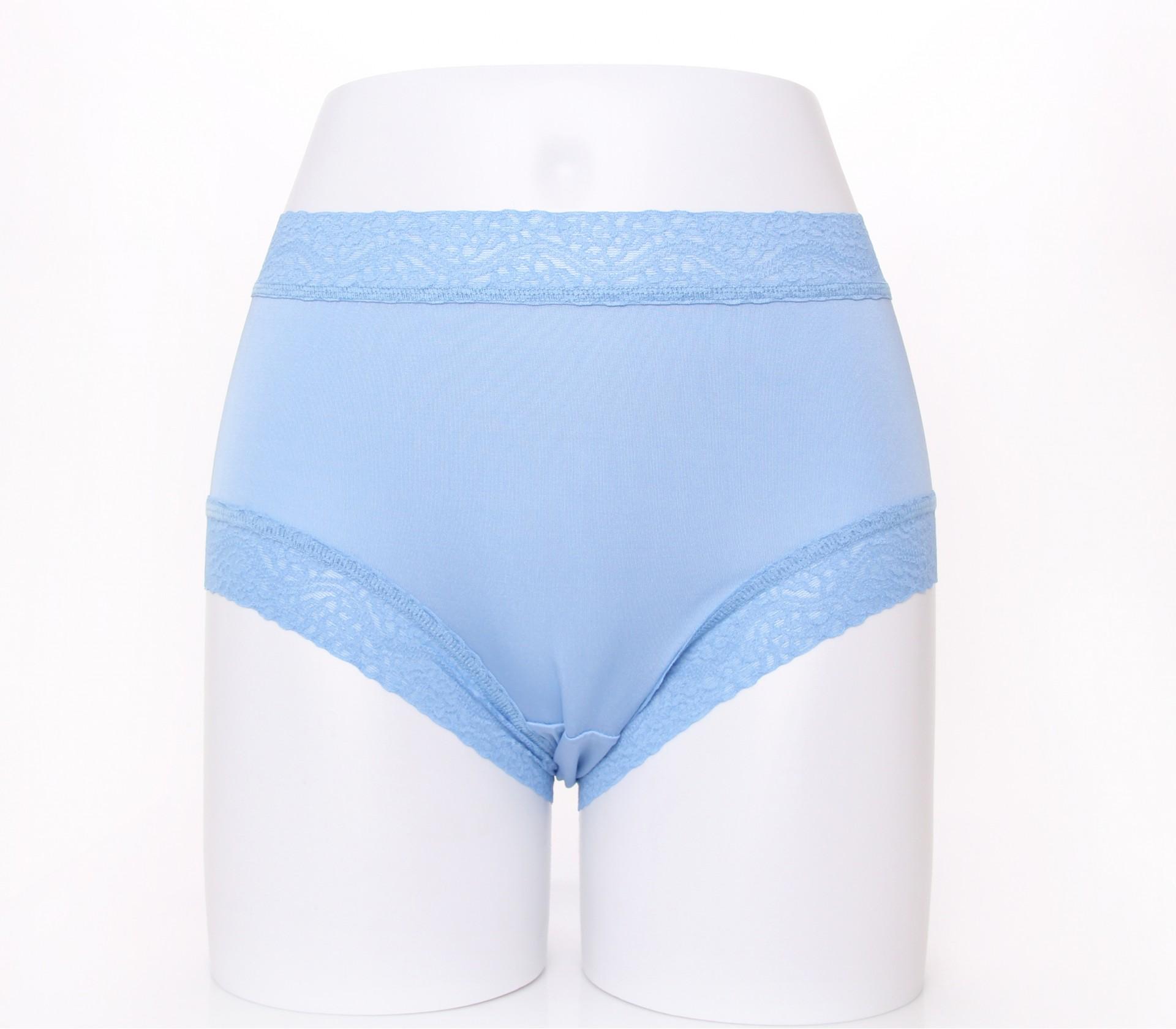闕蘭絹清新蝴蝶100%蠶絲內褲-2212(藍)
