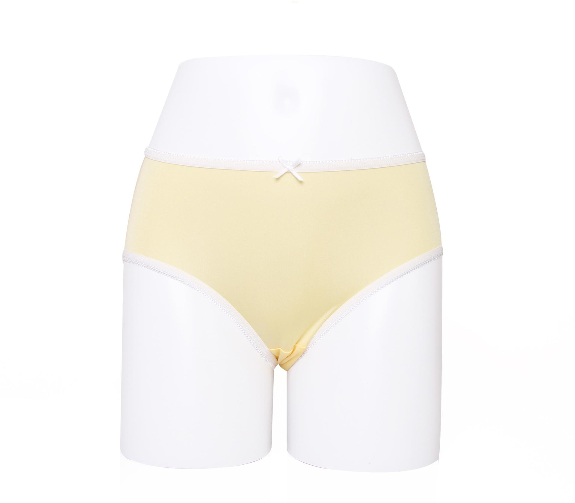 闕蘭絹繽紛質感30針100%蠶絲內褲-2218(黃)