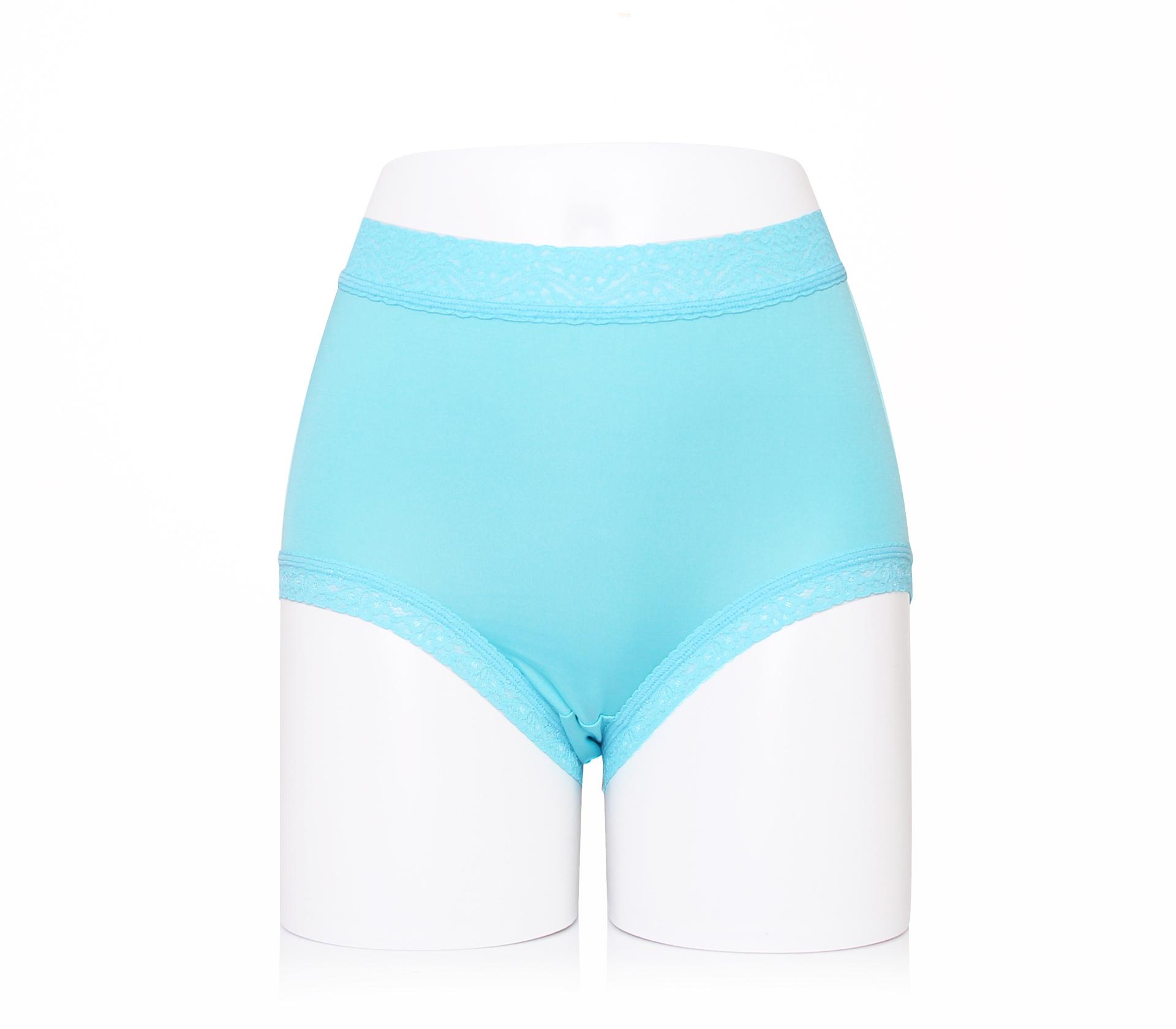 闕蘭絹30針包腹舒適100%蠶絲內褲-2219(藍)