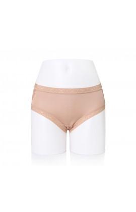 闕蘭絹性感蕾絲100%蠶絲內褲-2220 (膚)
