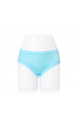 闕蘭絹性感蕾絲100%蠶絲內褲-2220 (藍)