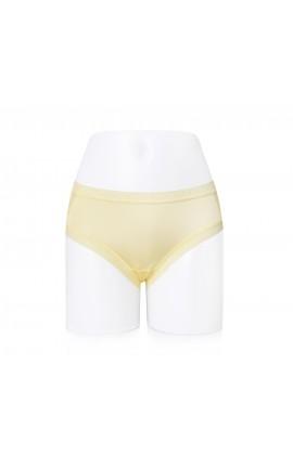 闕蘭絹性感蕾絲100%蠶絲內褲-2220 (黃)