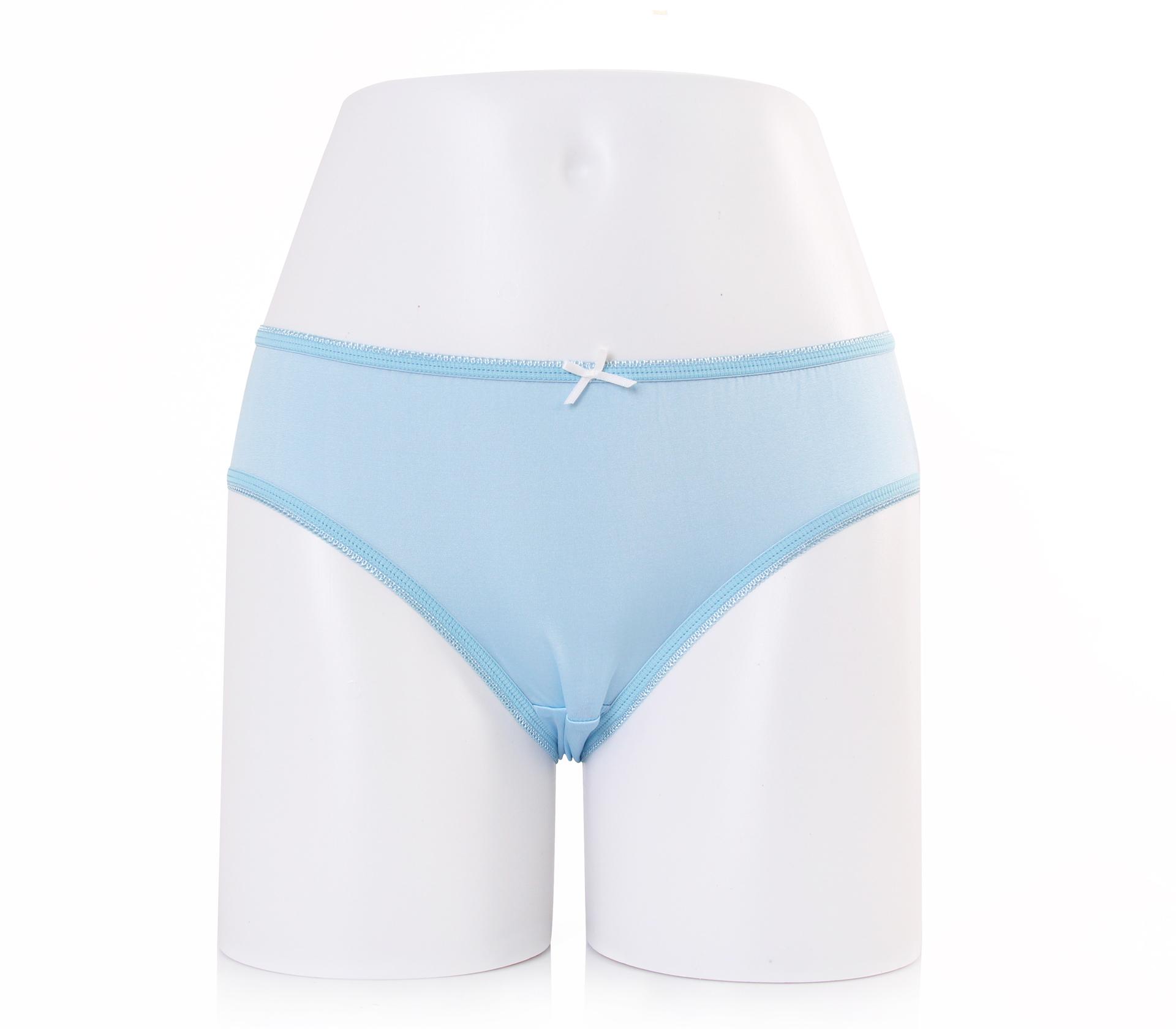 闕蘭絹可愛粉嫩30針100%蠶絲內褲-2221(藍)