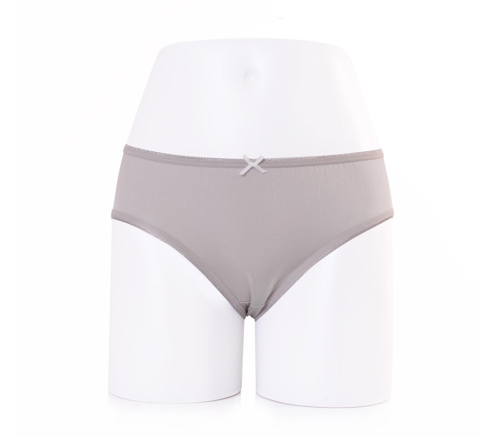 闕蘭絹可愛粉嫩30針100%蠶絲內褲-2221(灰)