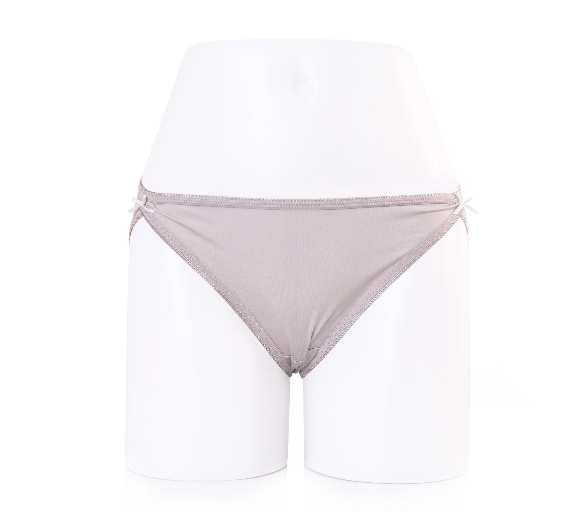 闕蘭絹性感高衩30針100%蠶絲內褲-2222(灰)