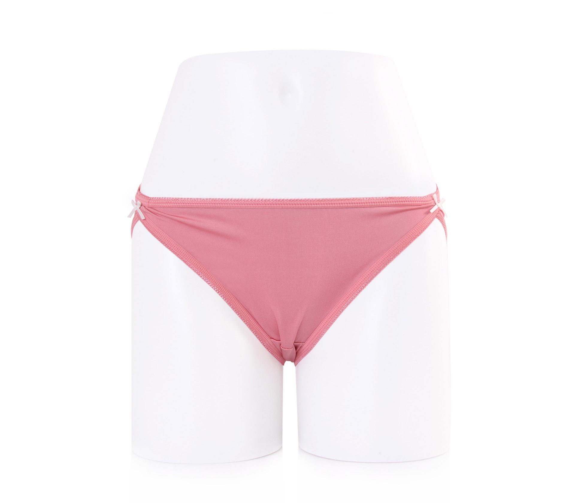 闕蘭絹性感高衩30針100%蠶絲內褲-2222(粉)