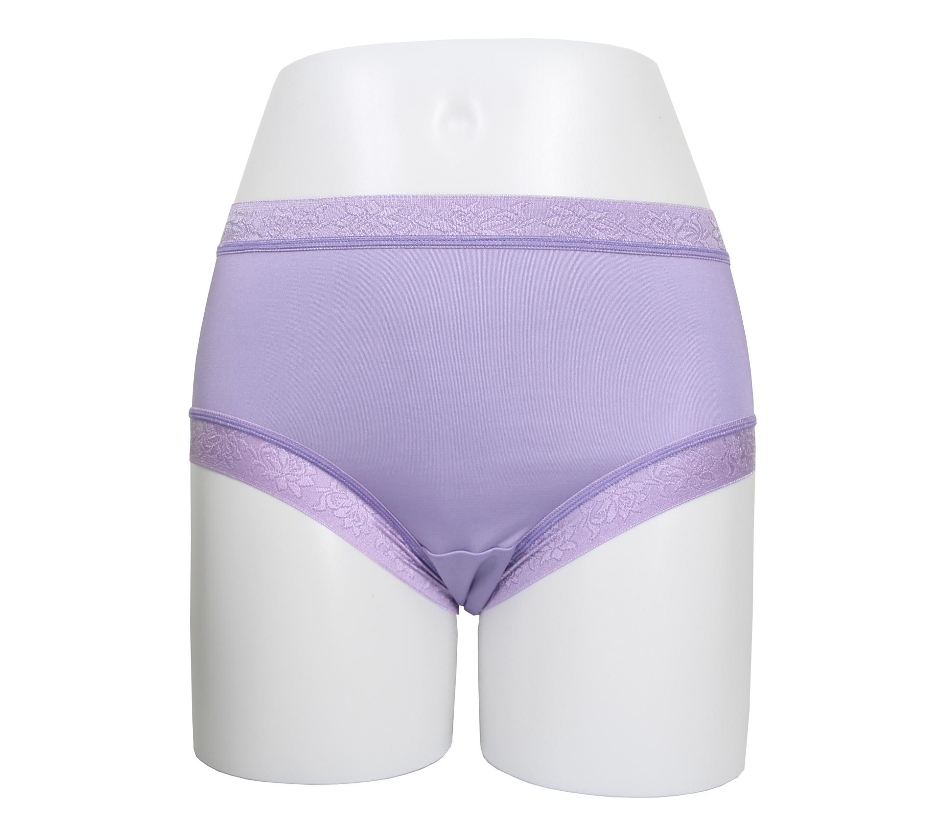 闕蘭絹天然舒適30針100%蠶絲內褲 - 2223 (紫)