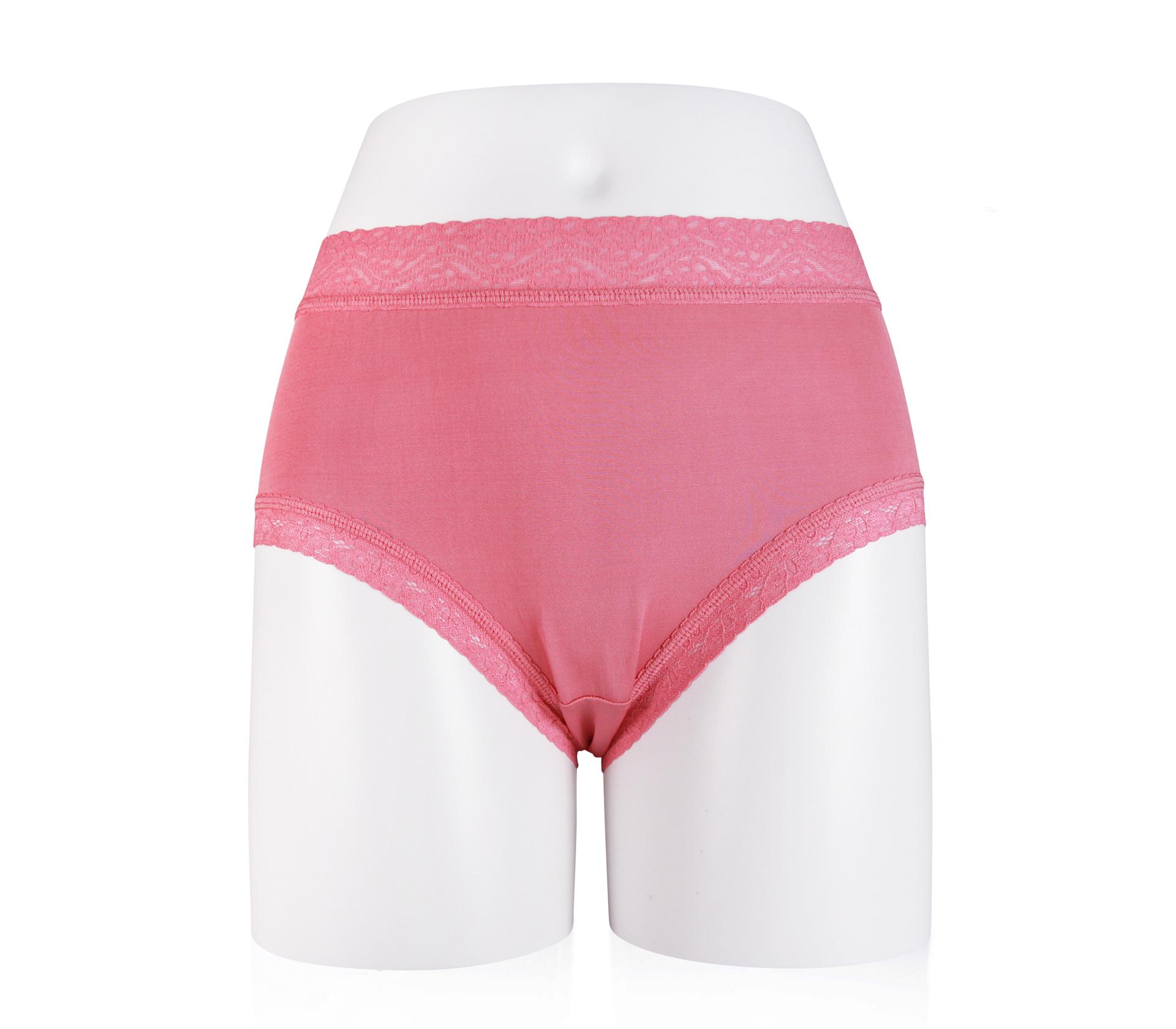 闕蘭絹親膚柔軟40針100%蠶絲內褲 - 2224 (紅)