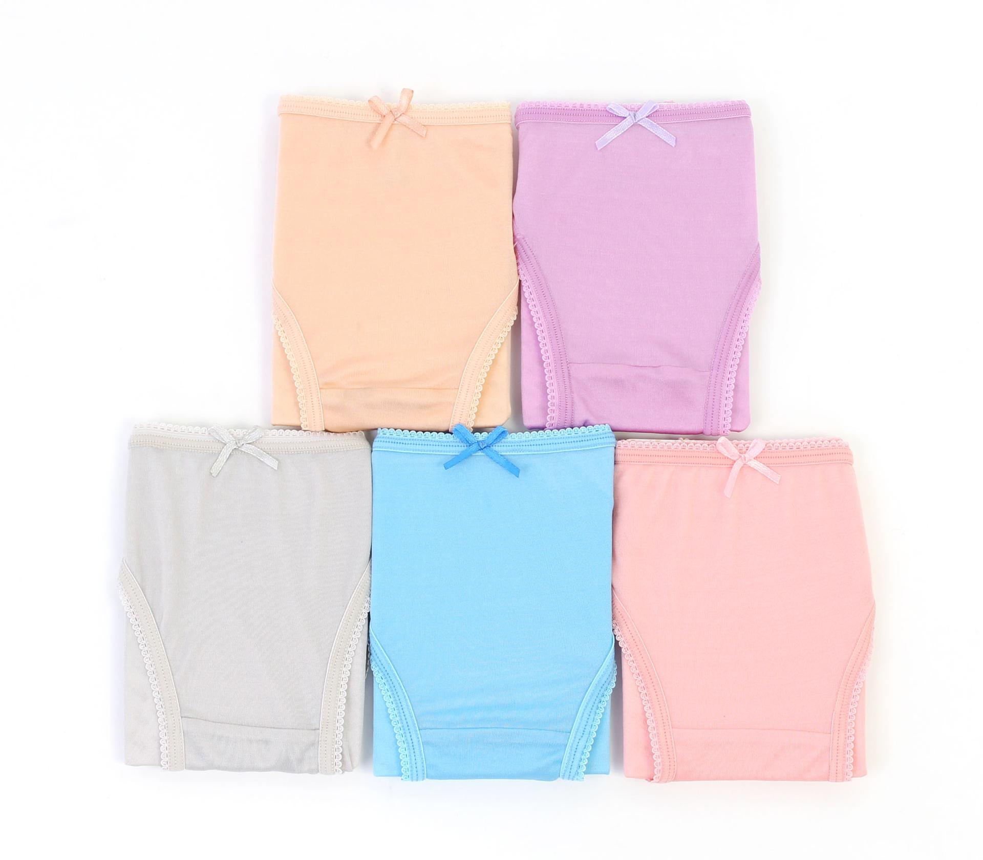 闕蘭絹唯美色調100%蠶絲內褲五件組-301