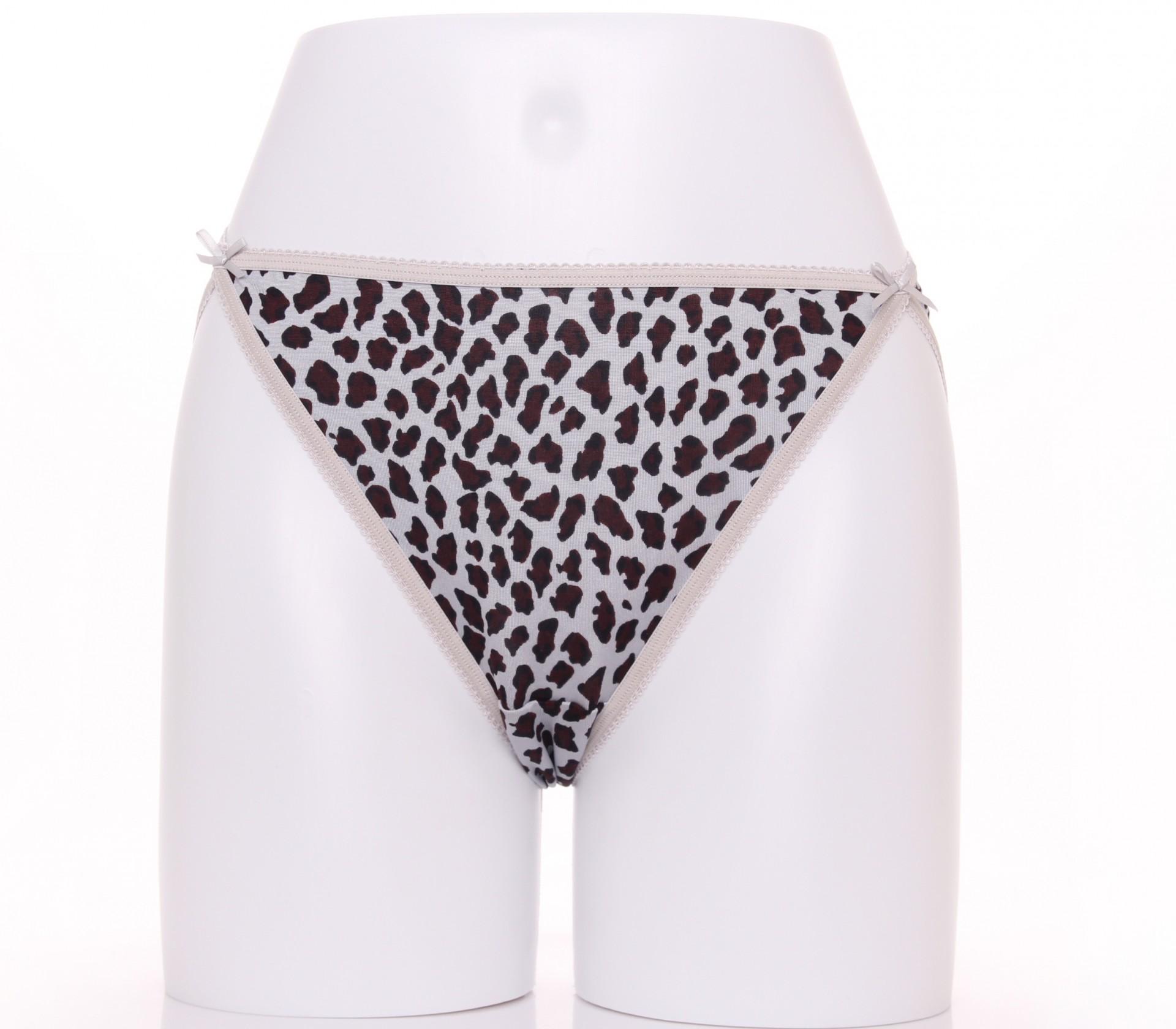闕蘭絹經典性感100%蠶絲內褲-3307(印花灰)