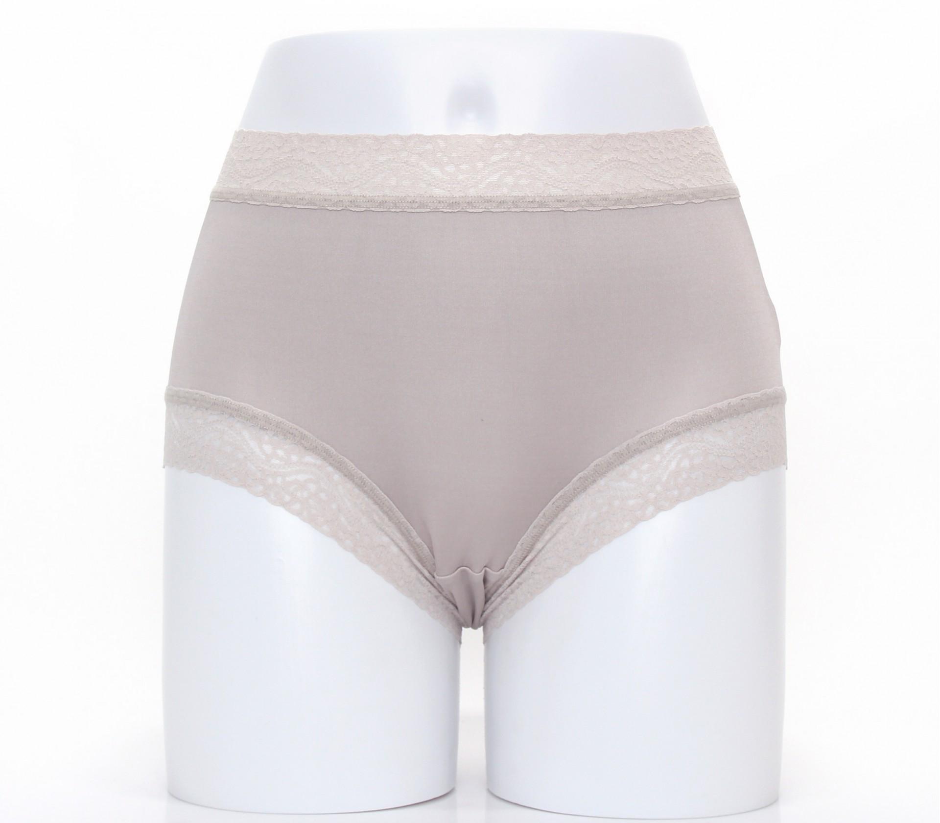 闕蘭絹舒適優雅42針100%蠶絲內褲-3309(灰)