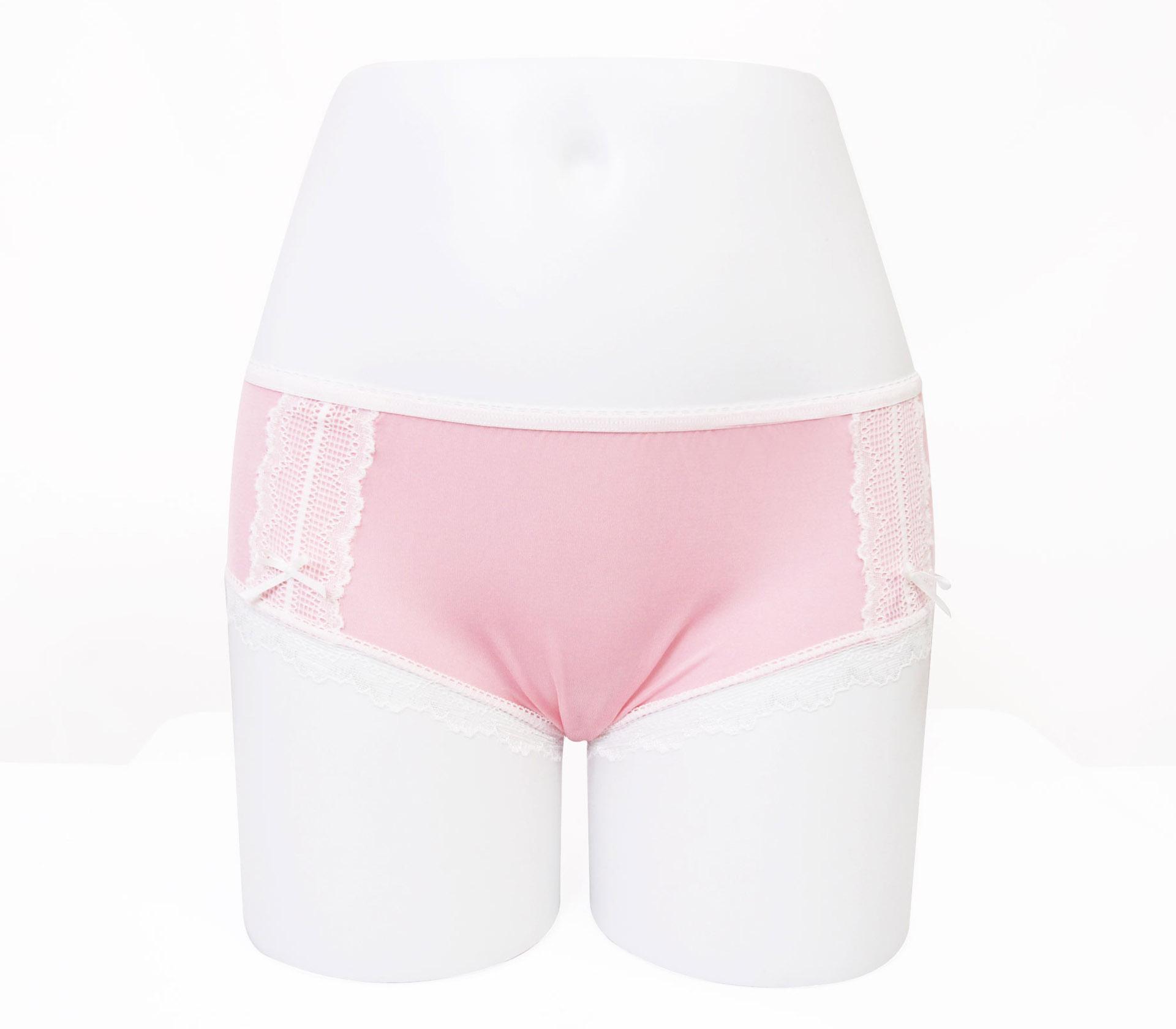 闕蘭絹粉嫩浪漫蕾絲100%蠶絲內褲-3312(粉)