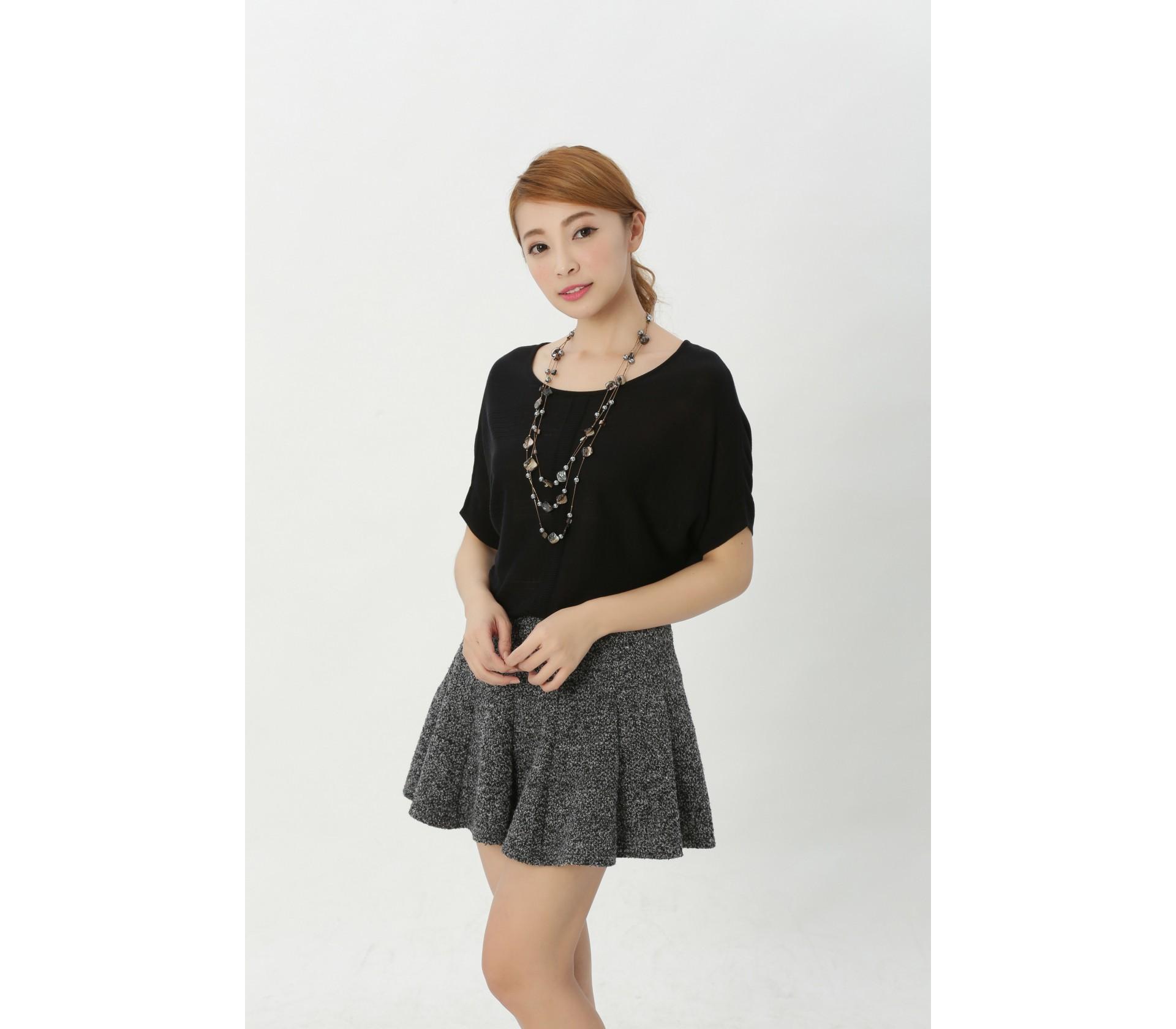 闕蘭絹簡約舒適100%蠶絲上衣-609(黑)
