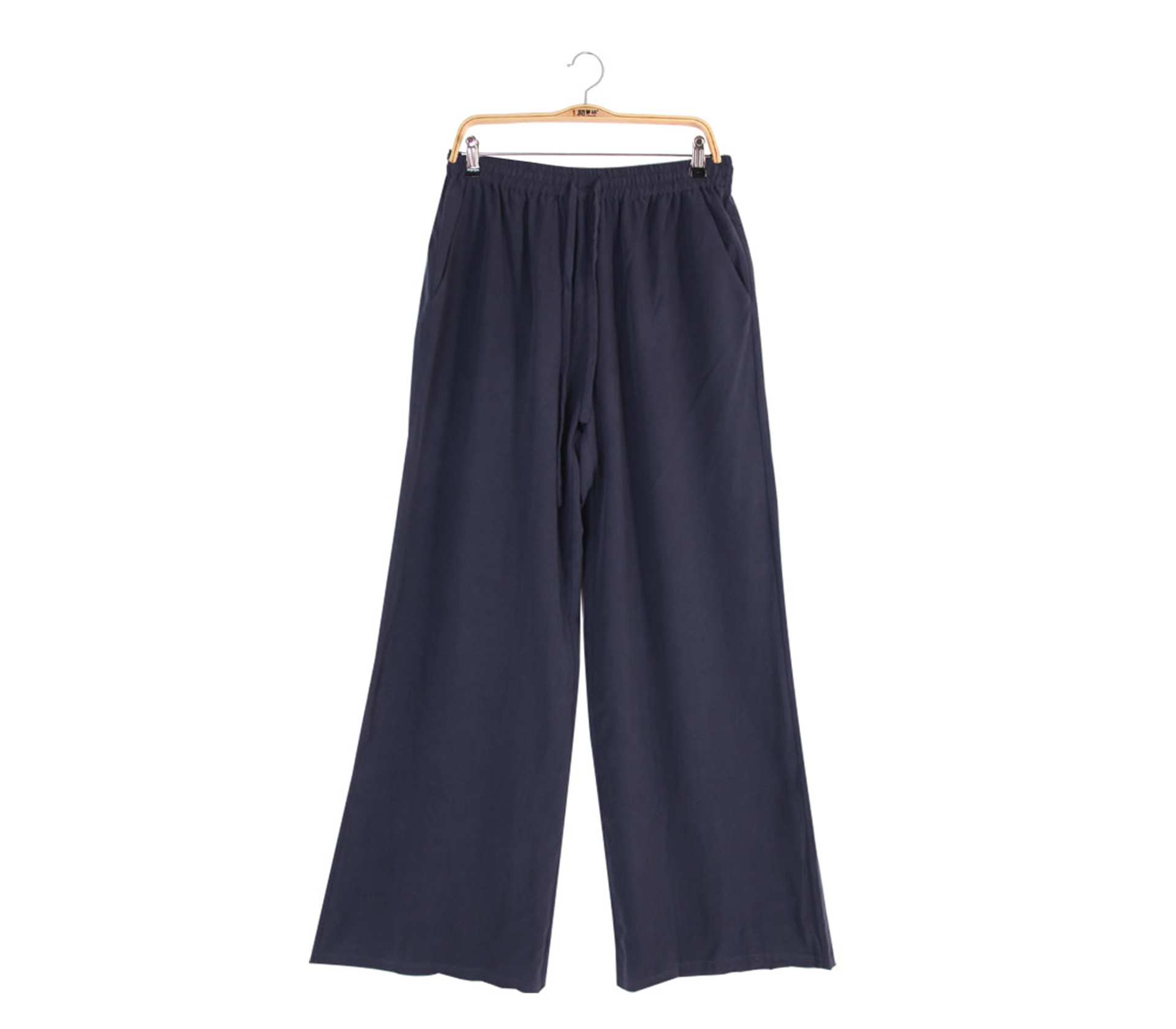 闕蘭絹100%蠶絲長褲 - 藏青色 - 6622