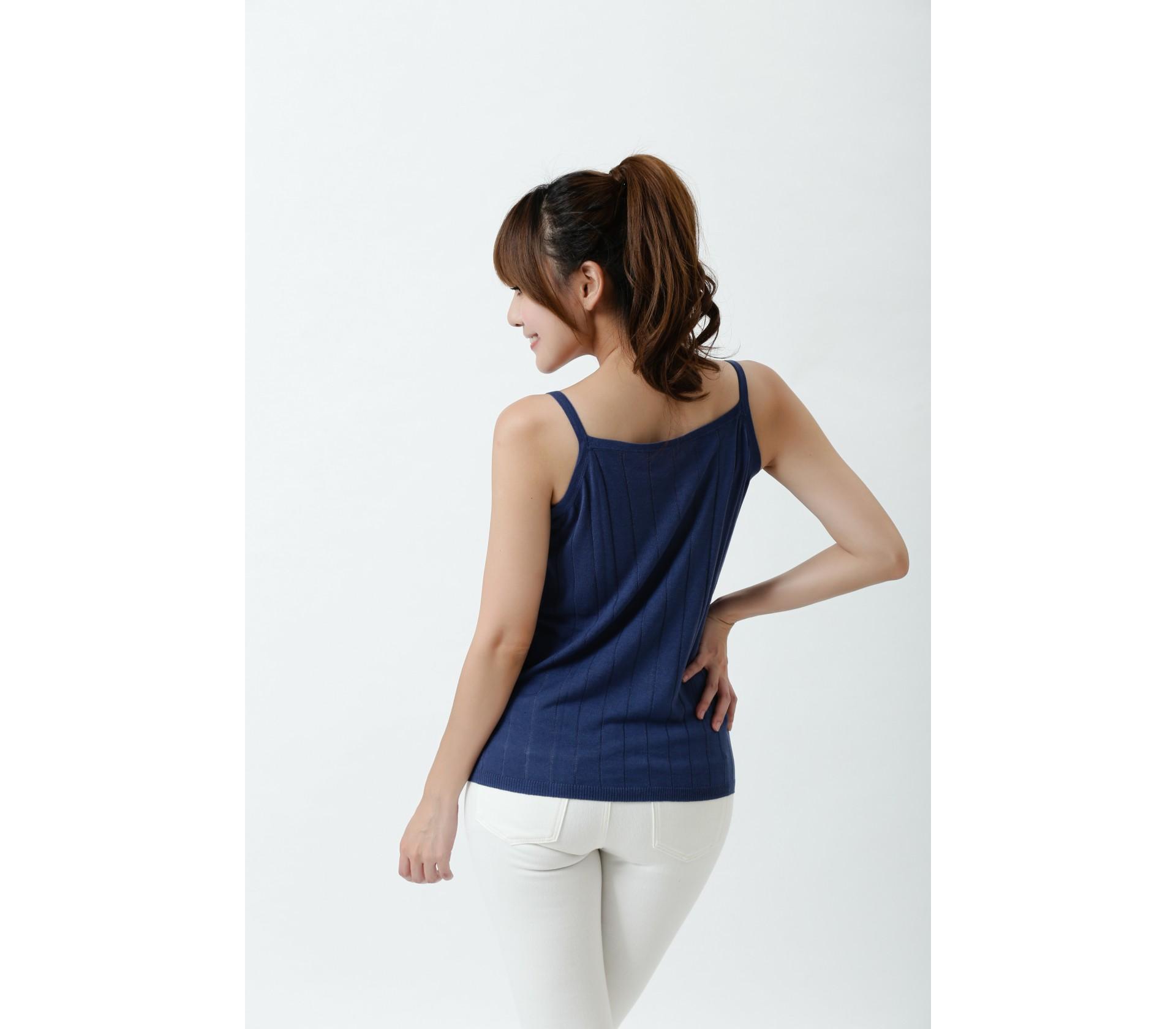 【Royal Silk】雋永名品蠶絲針織細肩背心-7701