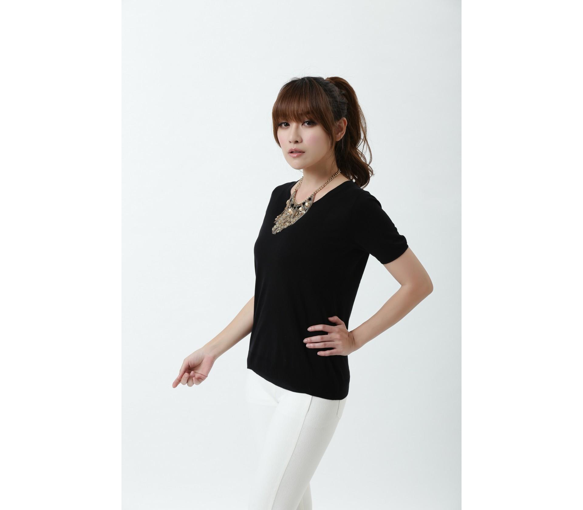 【Royal Silk】雋永名品蠶絲針織短袖上衣-7703