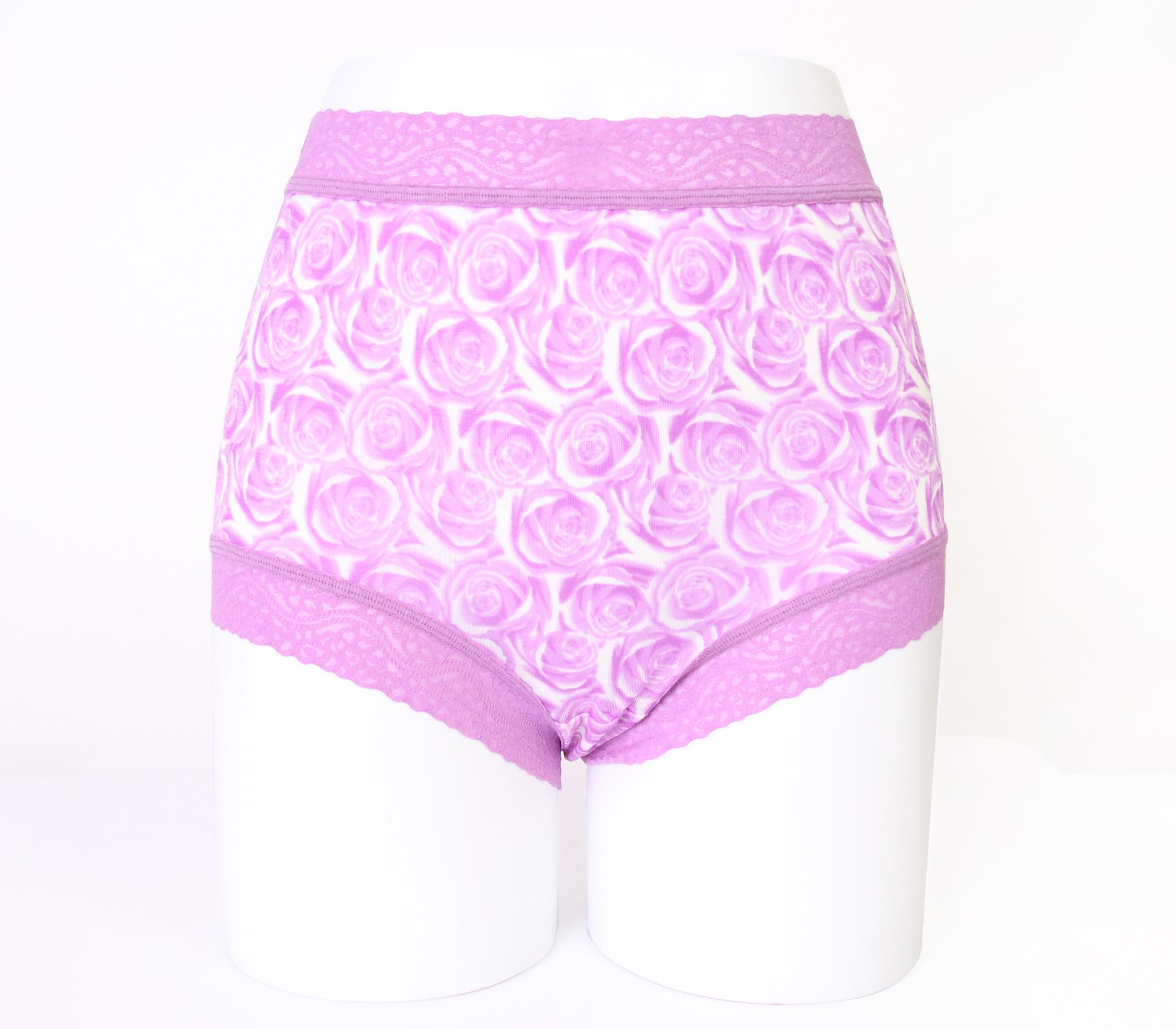 闕蘭絹經典薔薇100%蠶絲內褲-88104-1(紫)