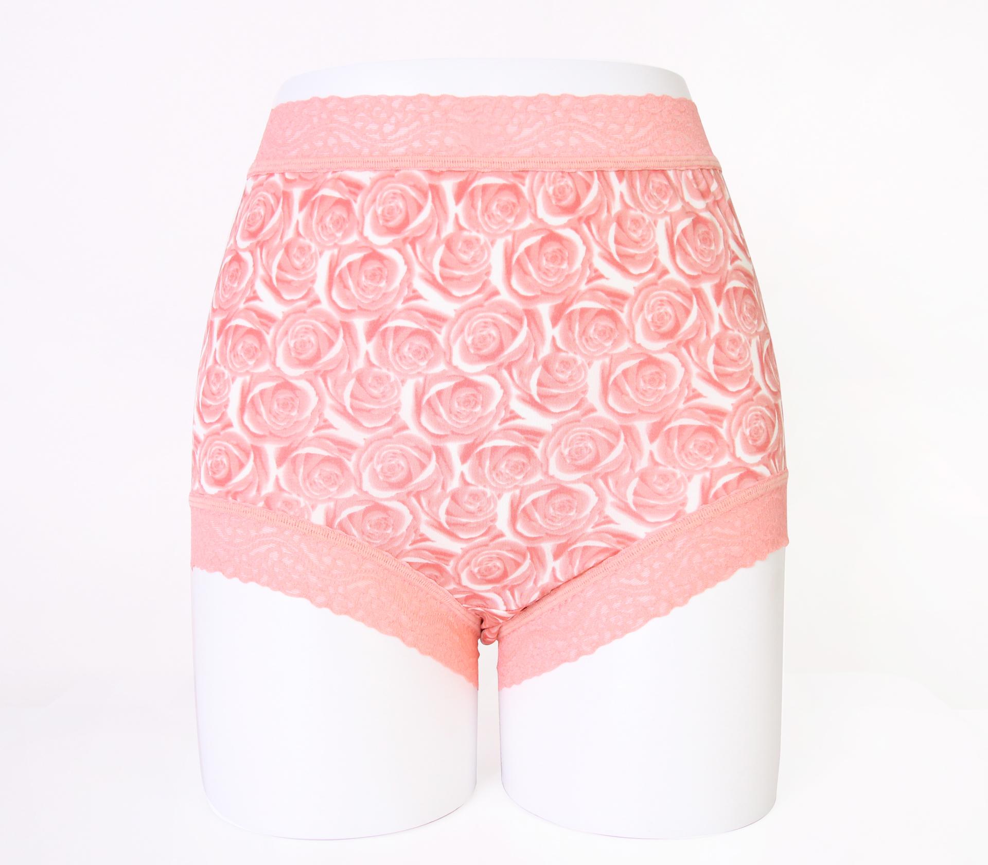 闕蘭絹經典薔薇100%蠶絲內褲-88104-1(豆沙)
