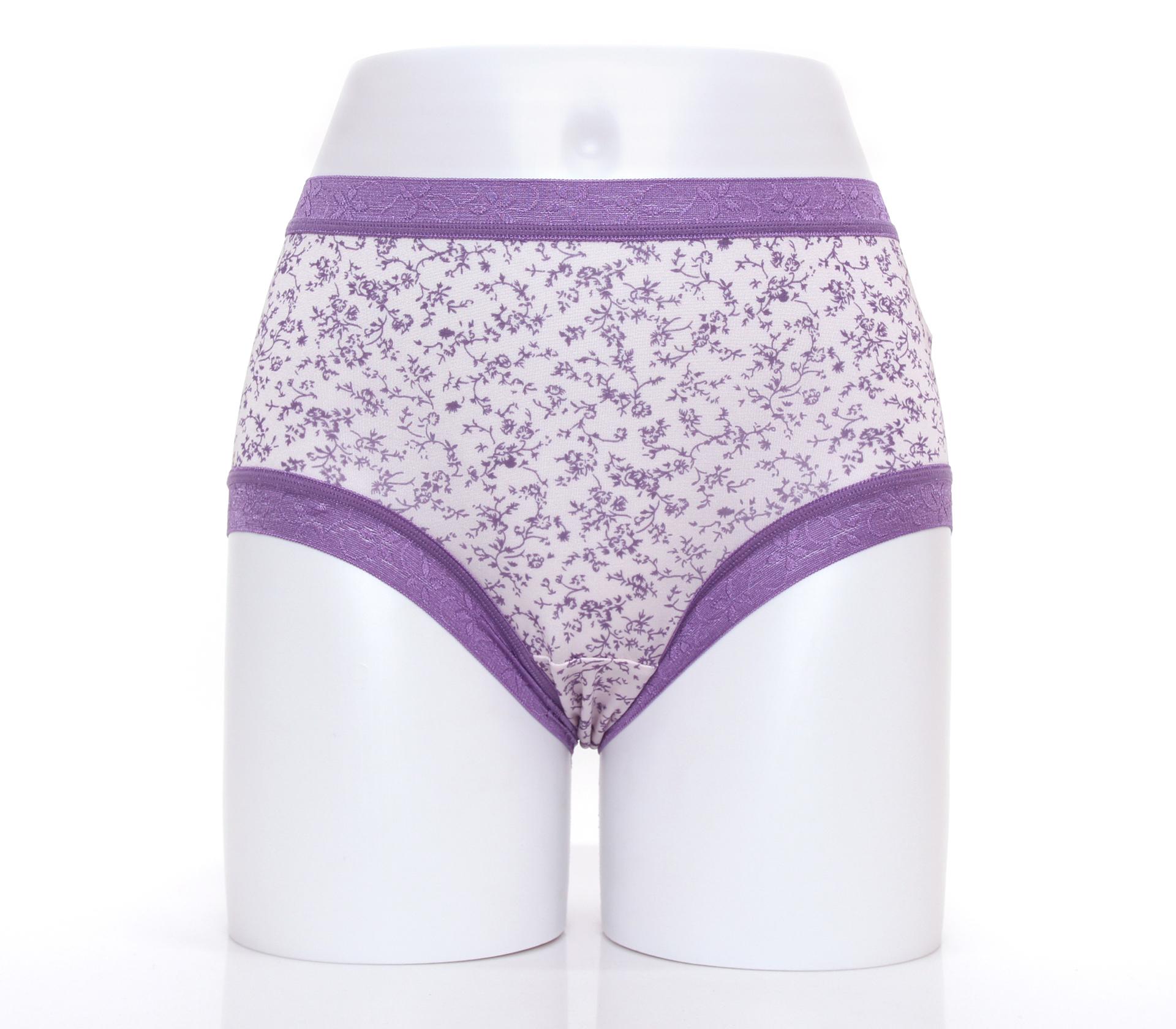 闕蘭絹日系零著感100%蠶絲內褲-88110(印花紫)