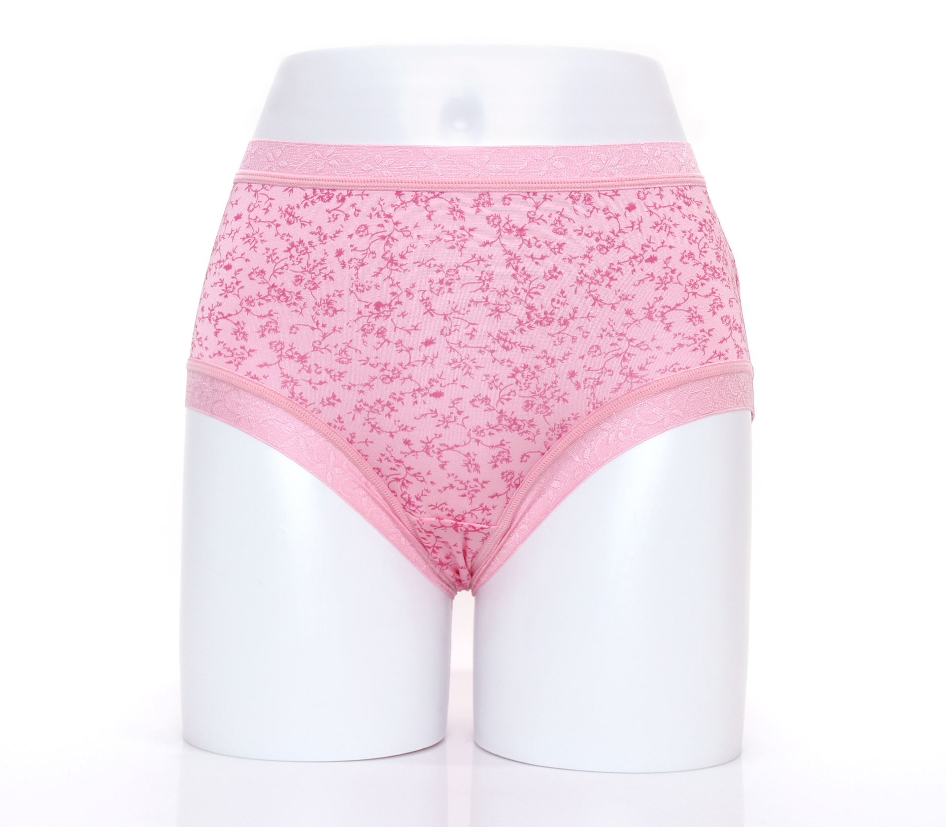 闕蘭絹日系零著感100%蠶絲內褲-88110(印花粉)