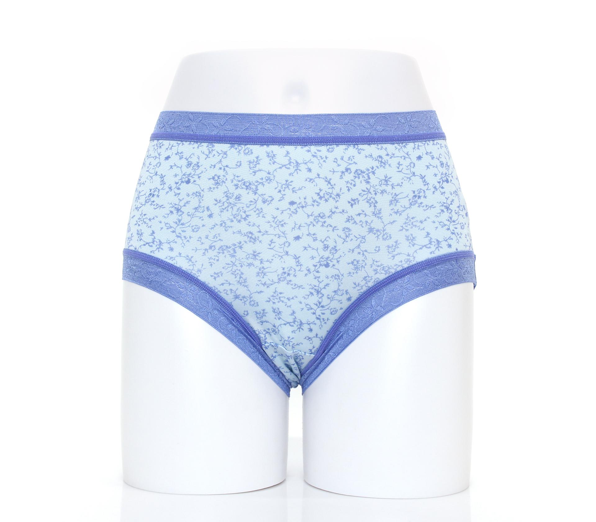 闕蘭絹日系零著感100%蠶絲內褲-88110(印花藍)