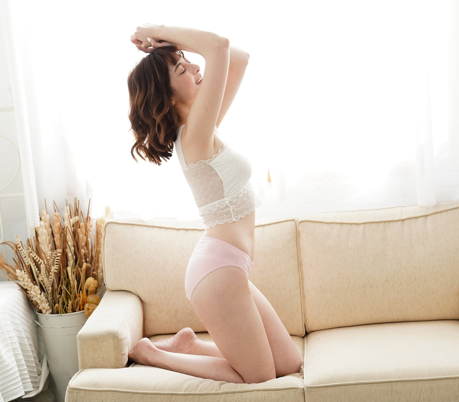 闕蘭絹32針超涼春蠶100%蠶絲內褲-88112-1(粉)