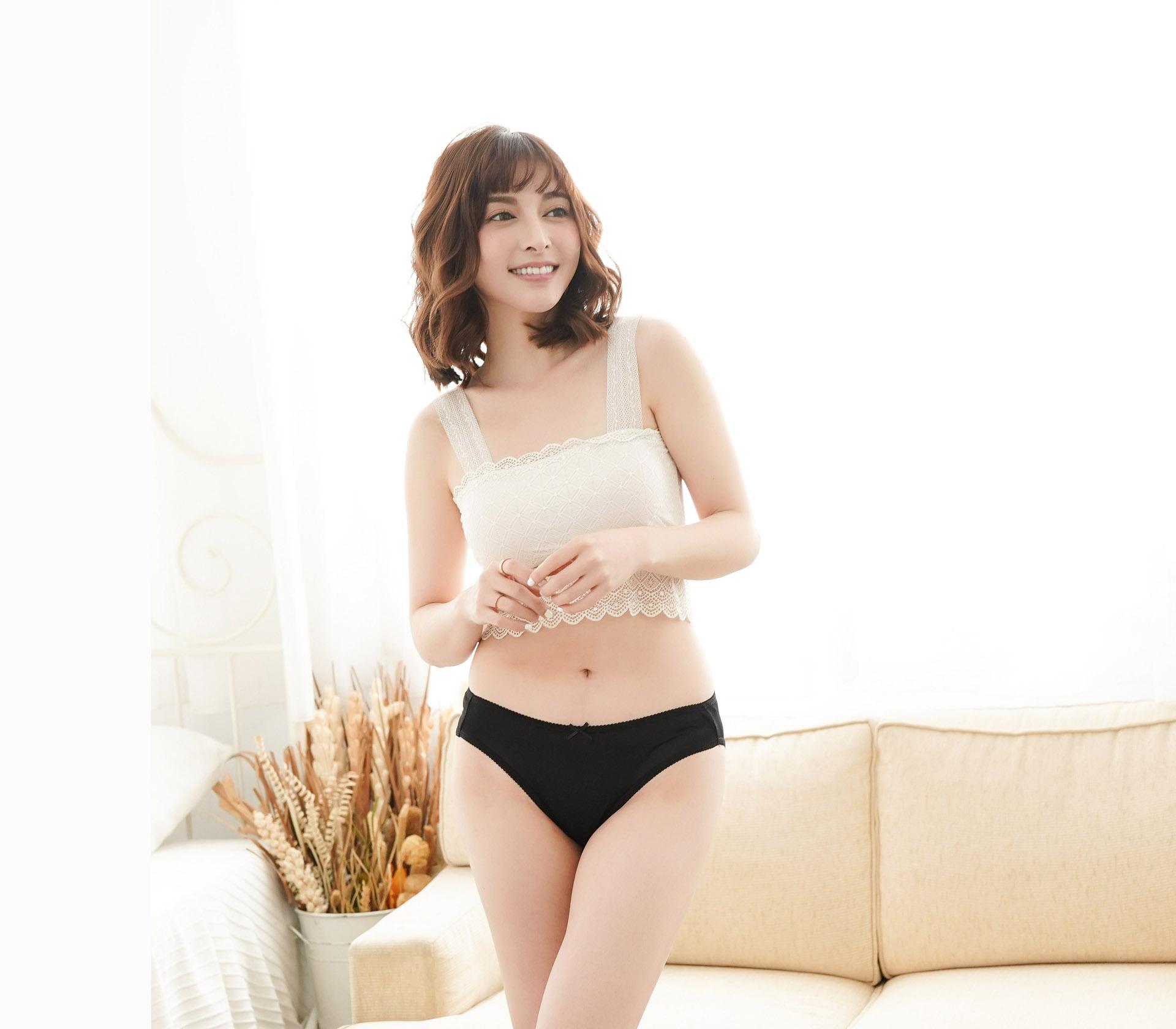 闕蘭絹32針超涼春蠶100%蠶絲內褲-88112-1(黑)