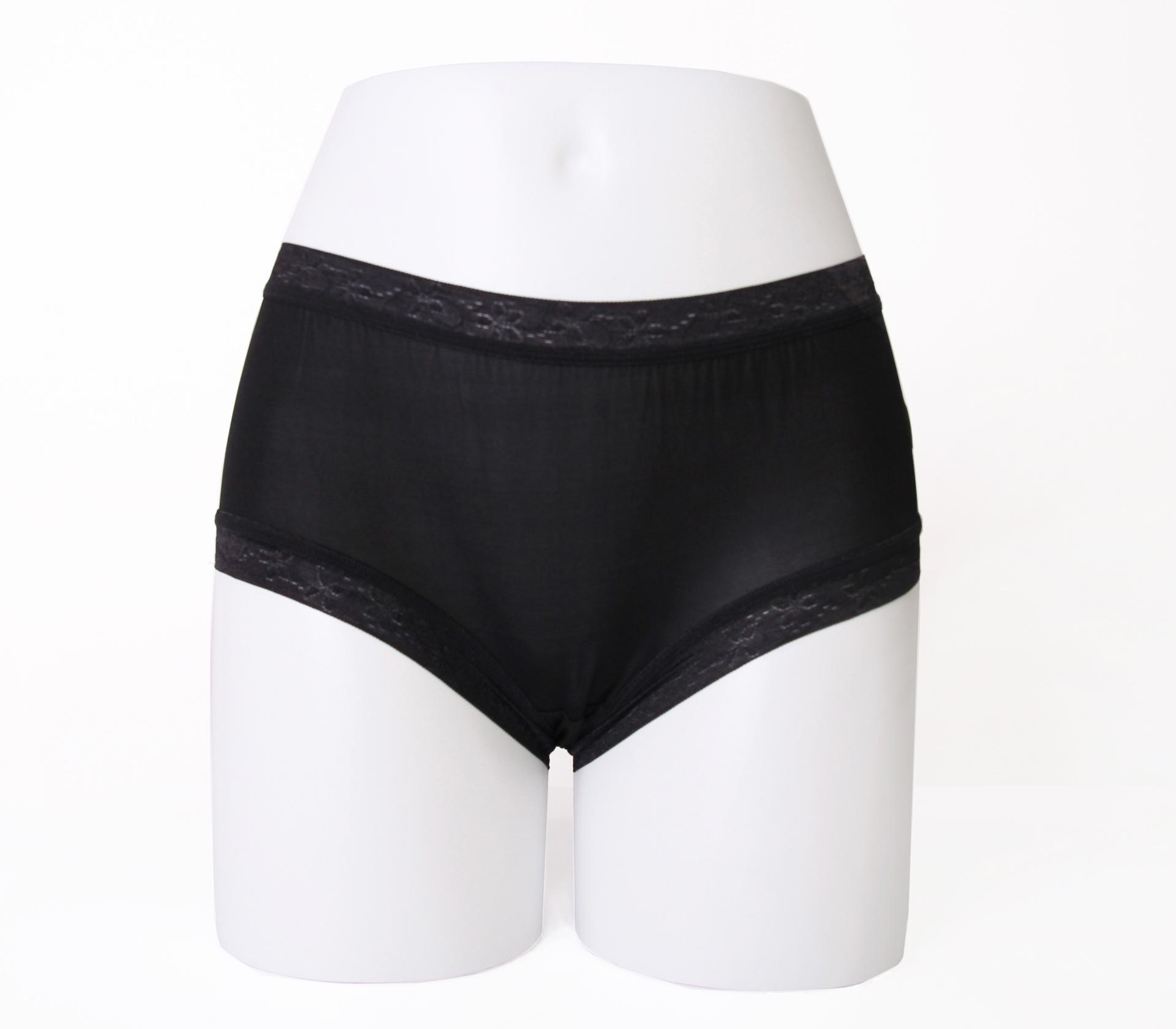 闕蘭絹32針超涼春蠶100%蠶絲內褲-88112-2(黑)