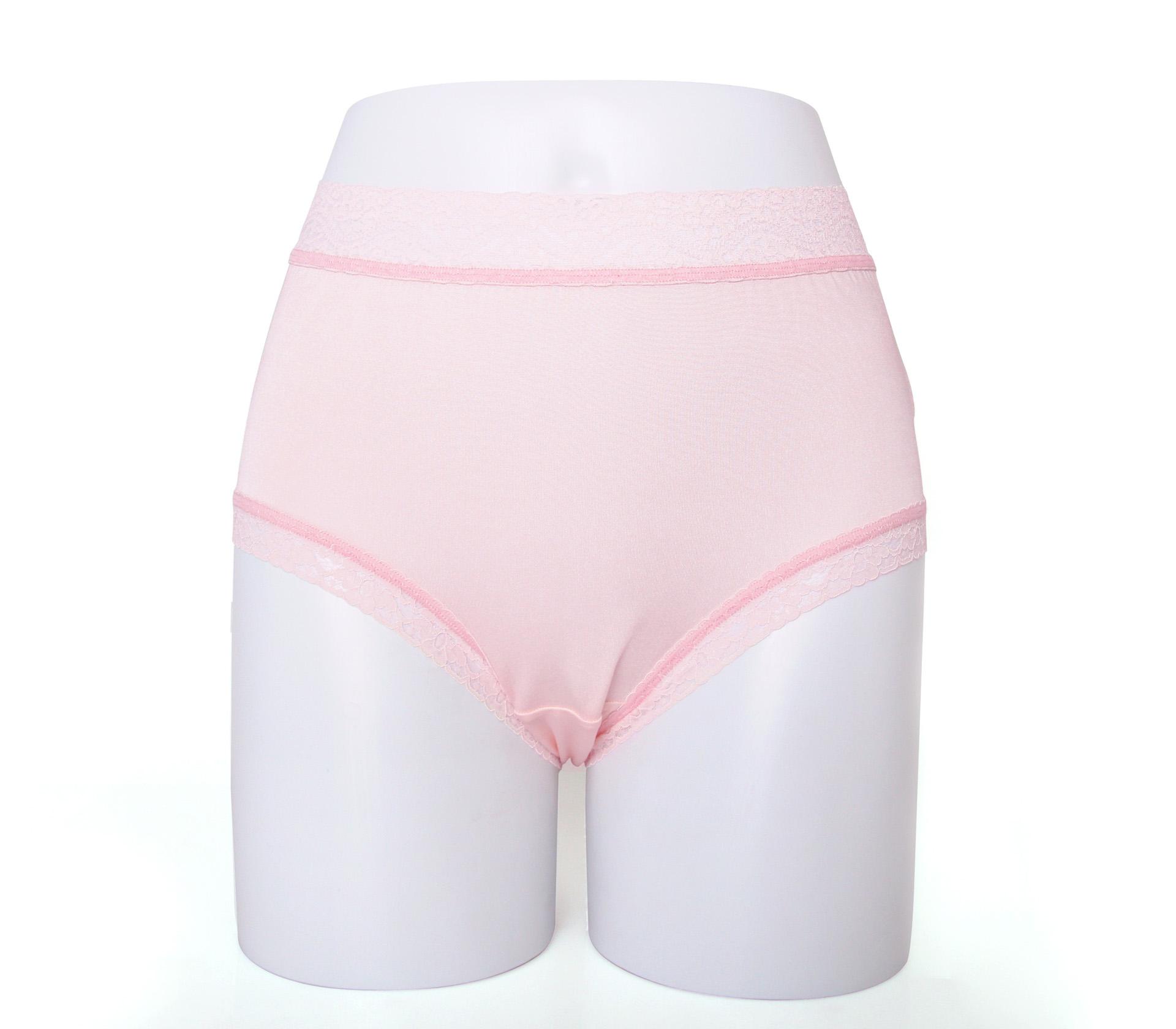 闕蘭絹32針超涼春蠶100%蠶絲內褲-88112(粉白)