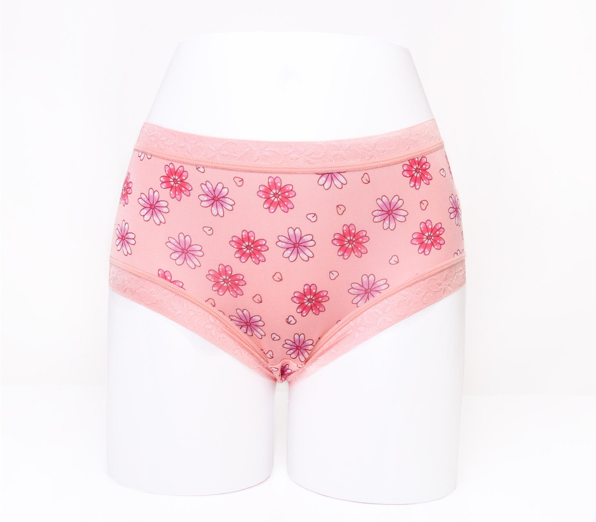 闕蘭絹滿滿花朵100%蠶絲內褲-88113(橘)