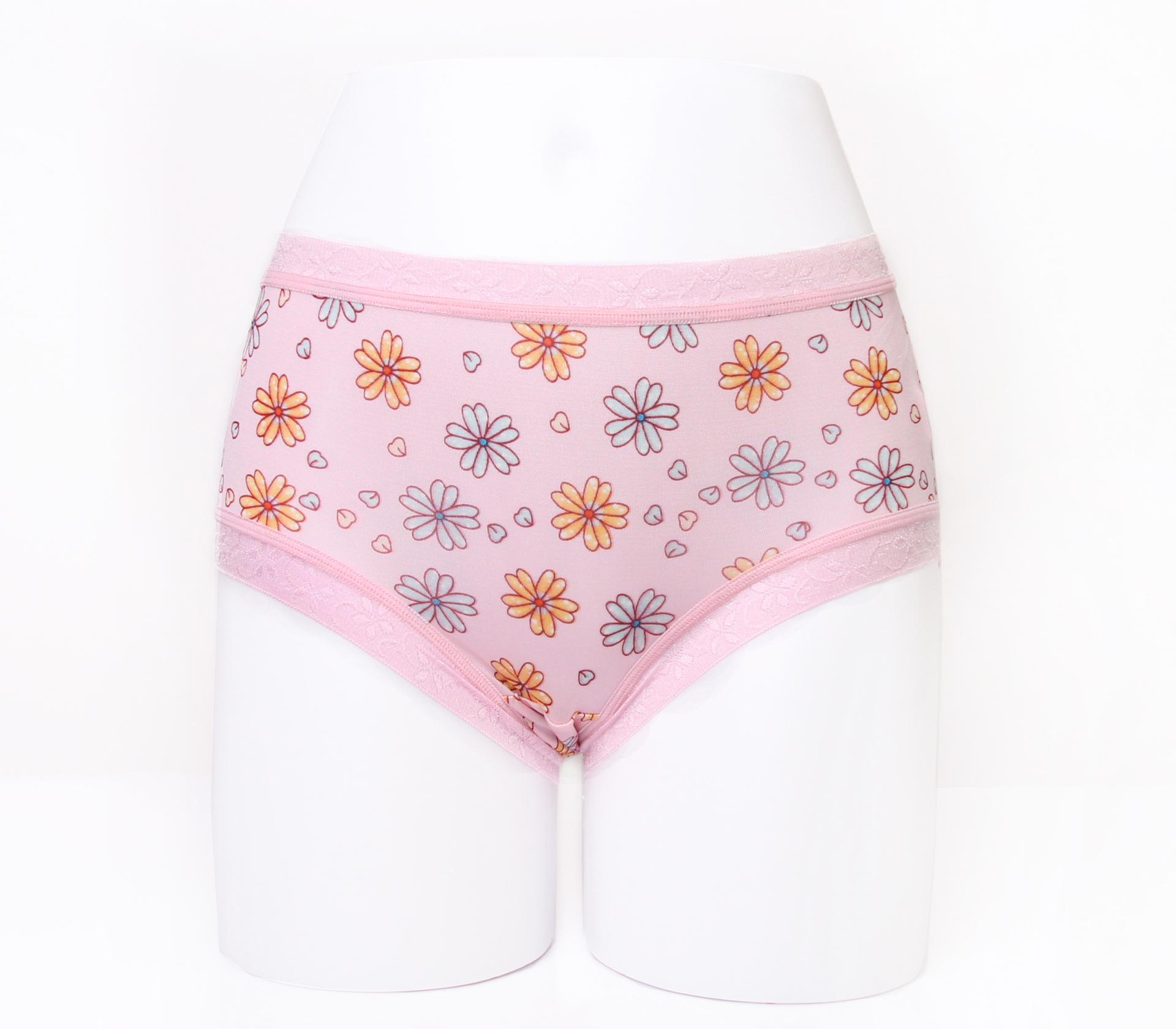 闕蘭絹滿滿花朵100%蠶絲內褲-88113(粉)