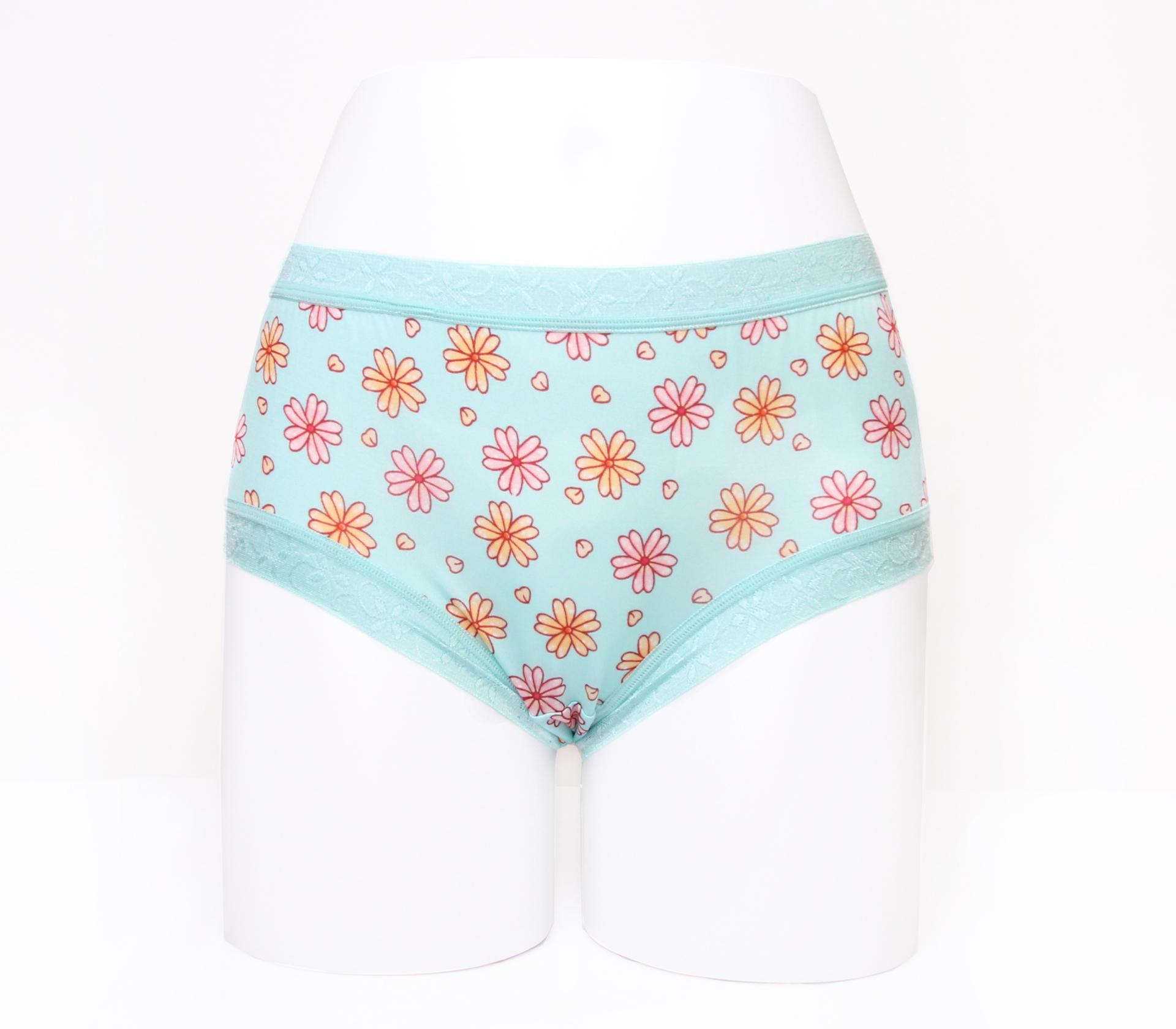 闕蘭絹滿滿花朵100%蠶絲內褲-88113(綠)