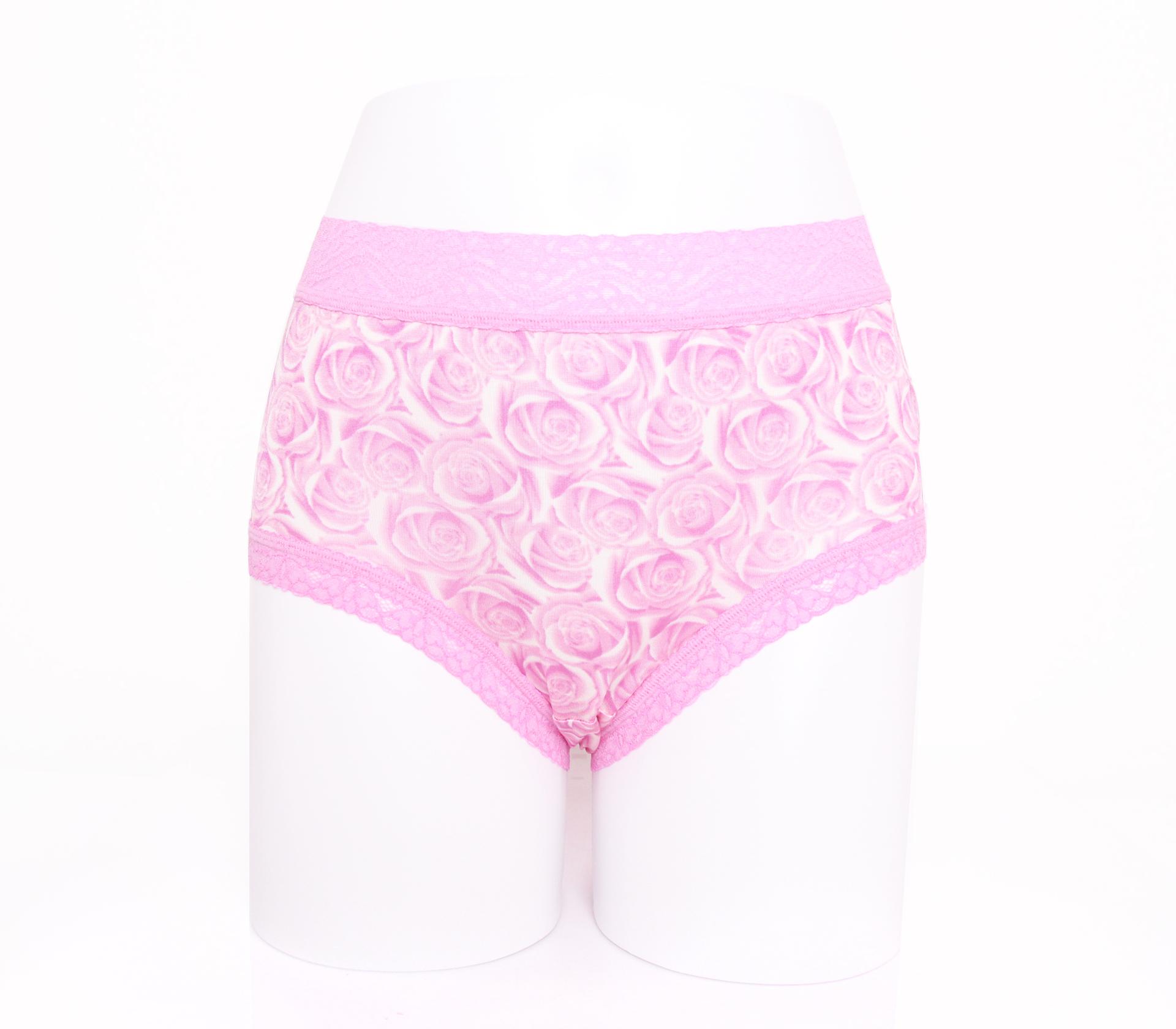 闕蘭絹浪漫薔薇100%蠶絲內褲-88114(紫)