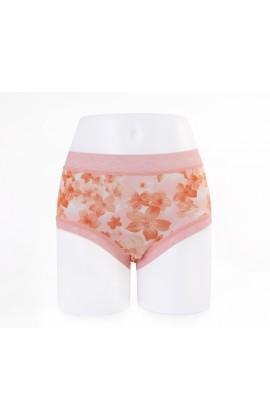 闕蘭絹優雅櫻花100%蠶絲內褲-88115 (橘)