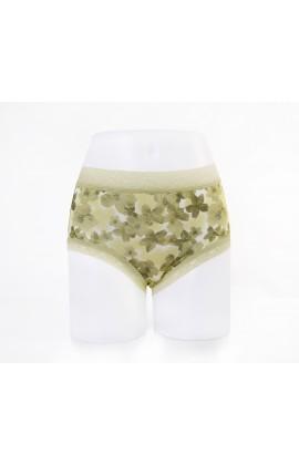 闕蘭絹優雅櫻花100%蠶絲內褲-88115 (綠)