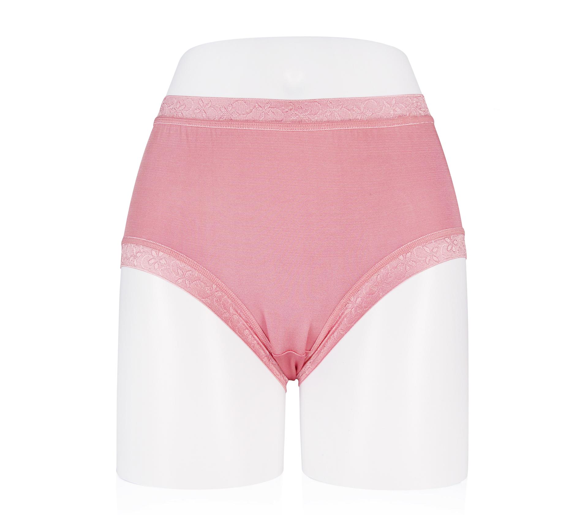 闕蘭絹絲滑透氣100%蠶絲褲 - 88117 (粉色)
