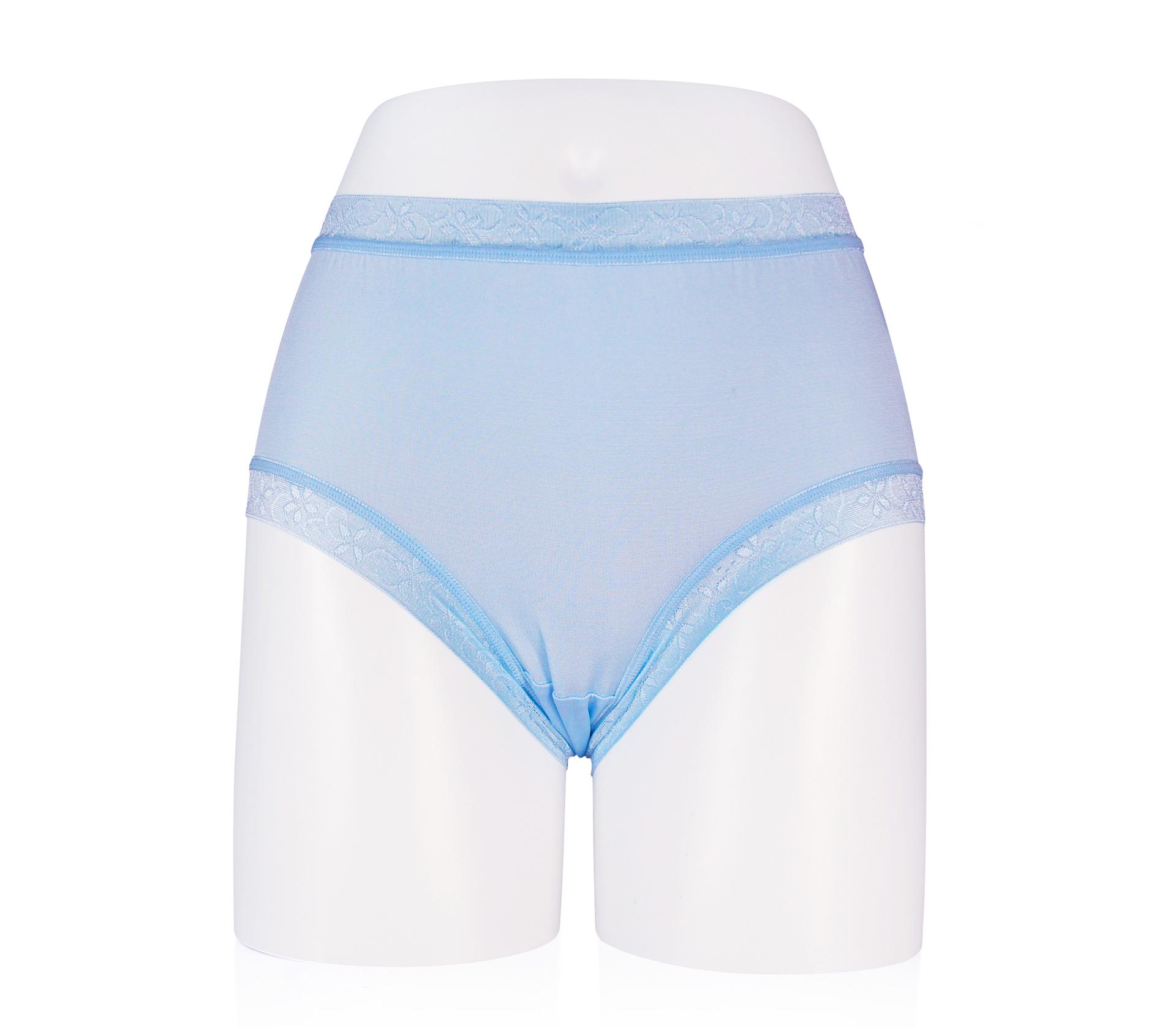 闕蘭絹絲滑透氣100%蠶絲褲 - 88117 (藍色)