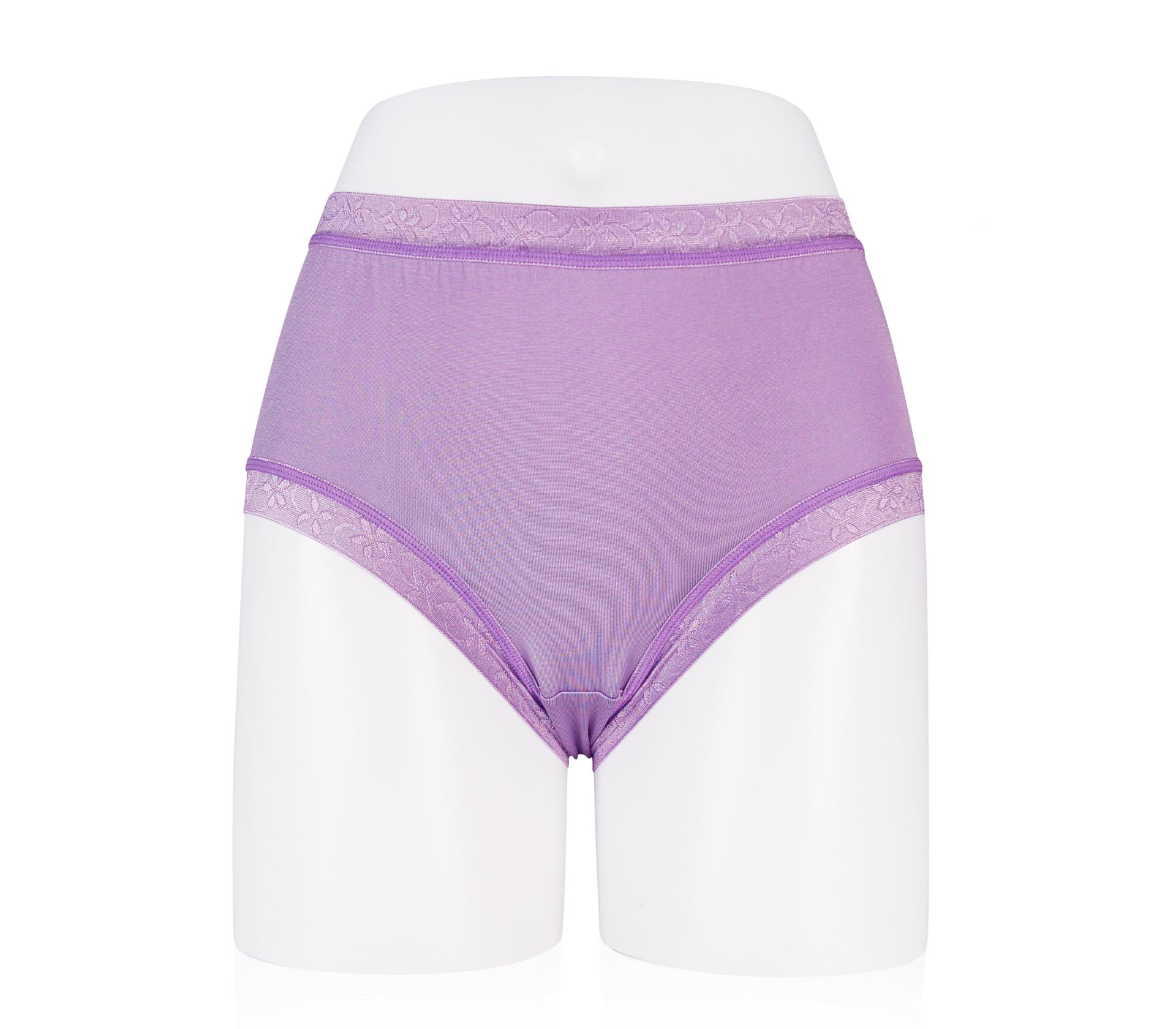 闕蘭絹絲滑透氣100%蠶絲褲 - 88117 (紫色)