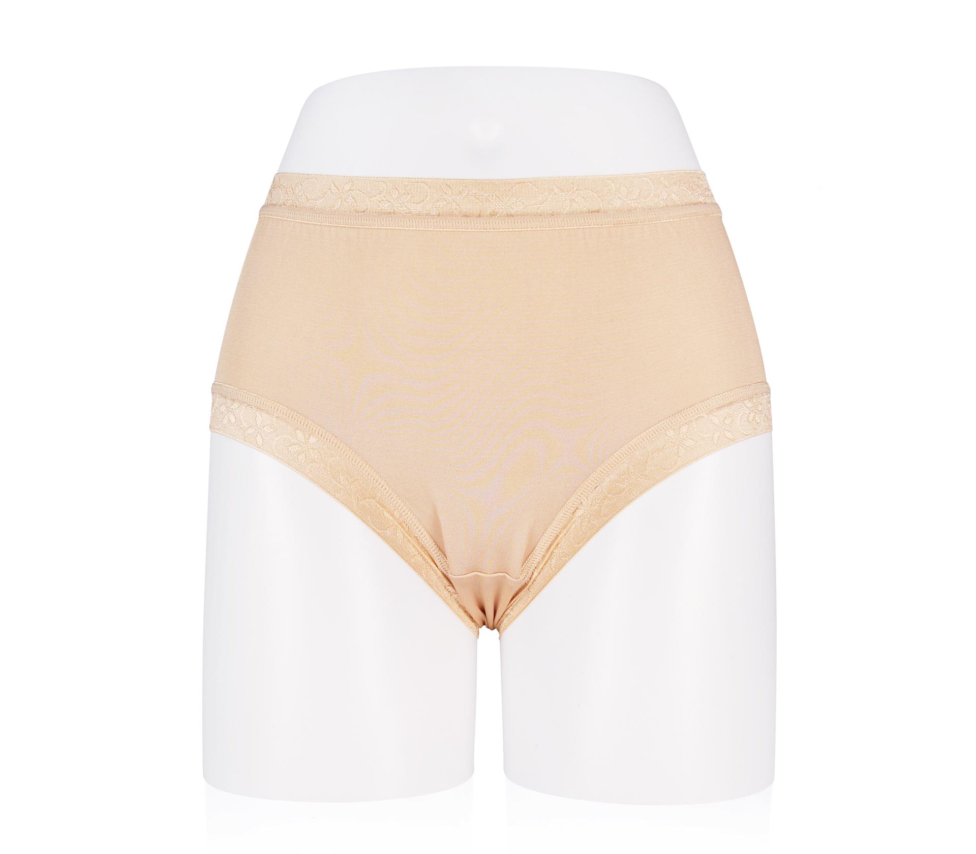 闕蘭絹絲滑透氣100%蠶絲褲 - 88117 (膚色)