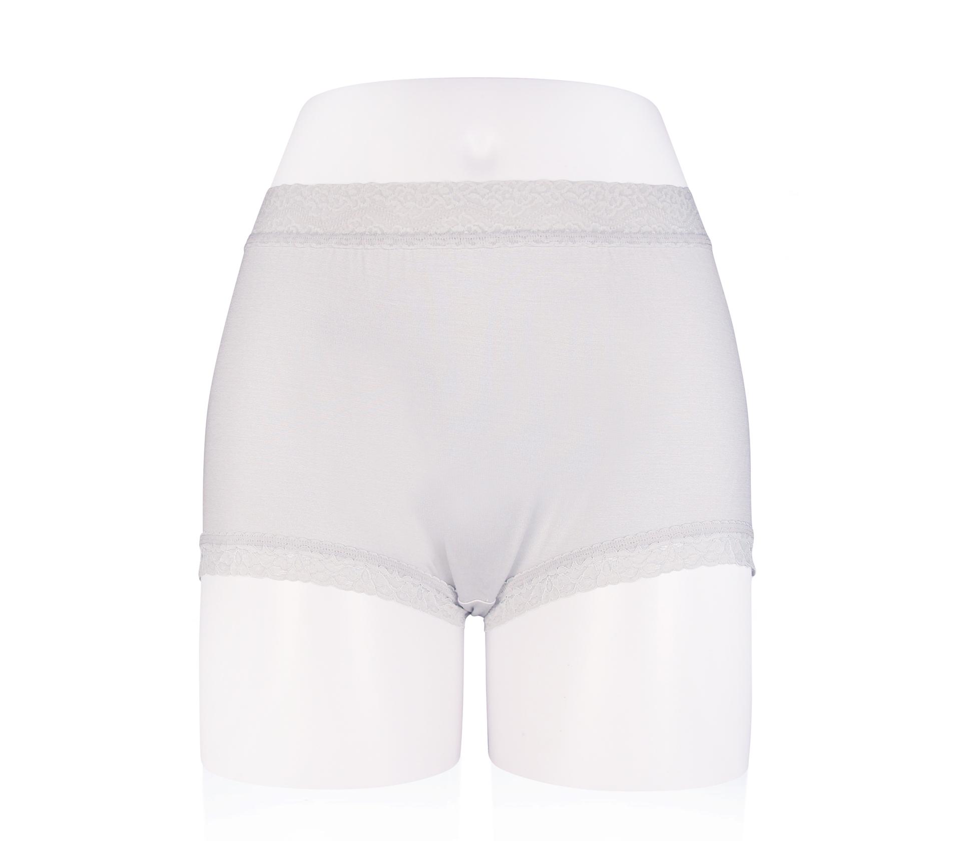 闕蘭絹中腰粉嫩親膚100%蠶絲平口褲 - 88118 (灰色)