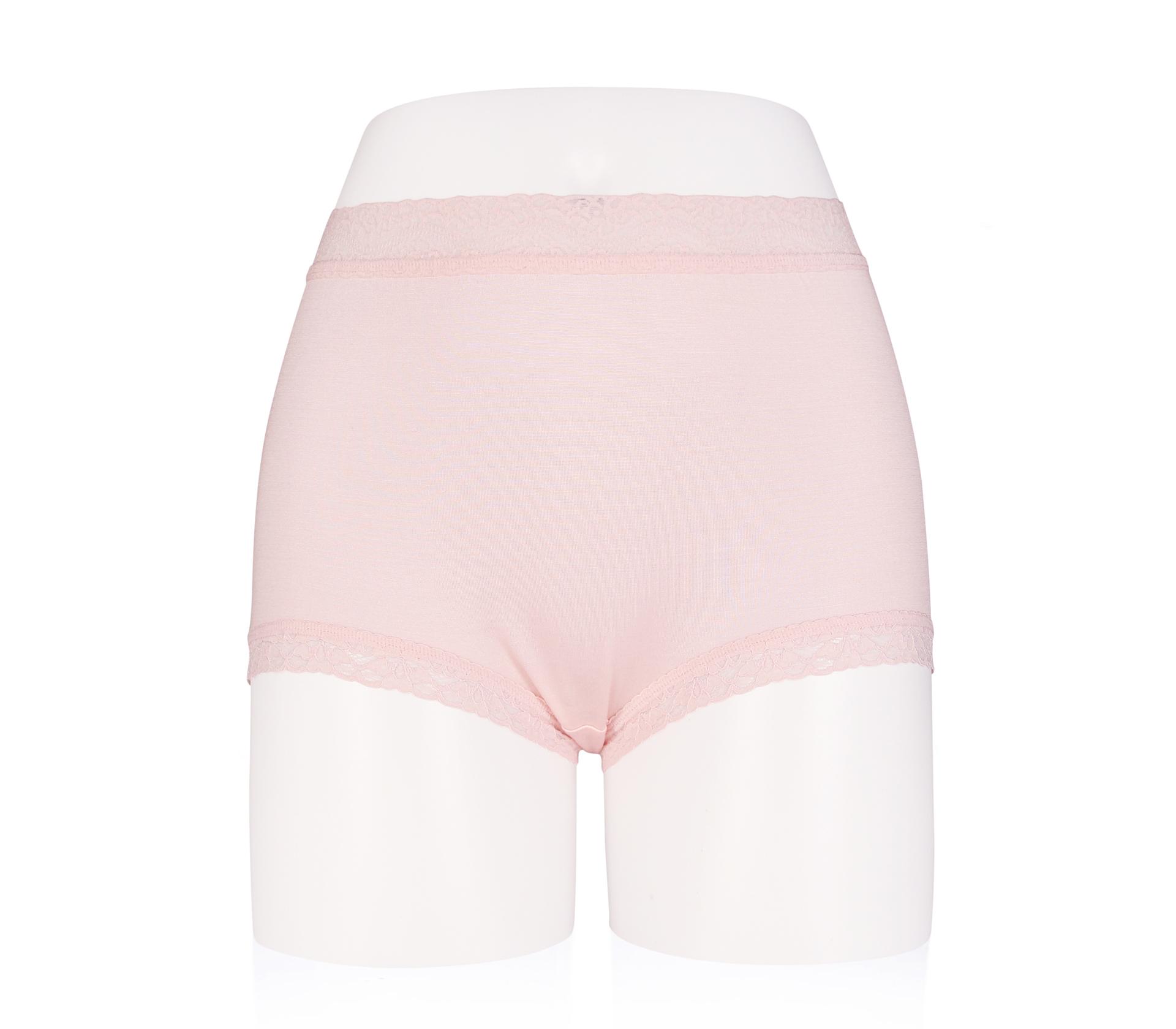 闕蘭絹中腰粉嫩親膚100%蠶絲平口褲 - 88118 (粉色)