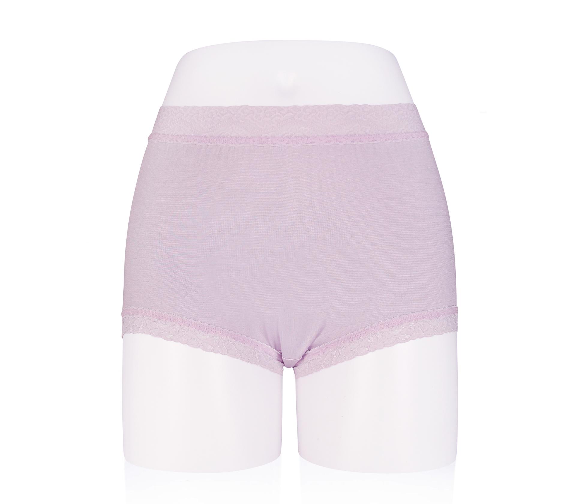 闕蘭絹中腰粉嫩親膚100%蠶絲平口褲 - 88118 (紫色)