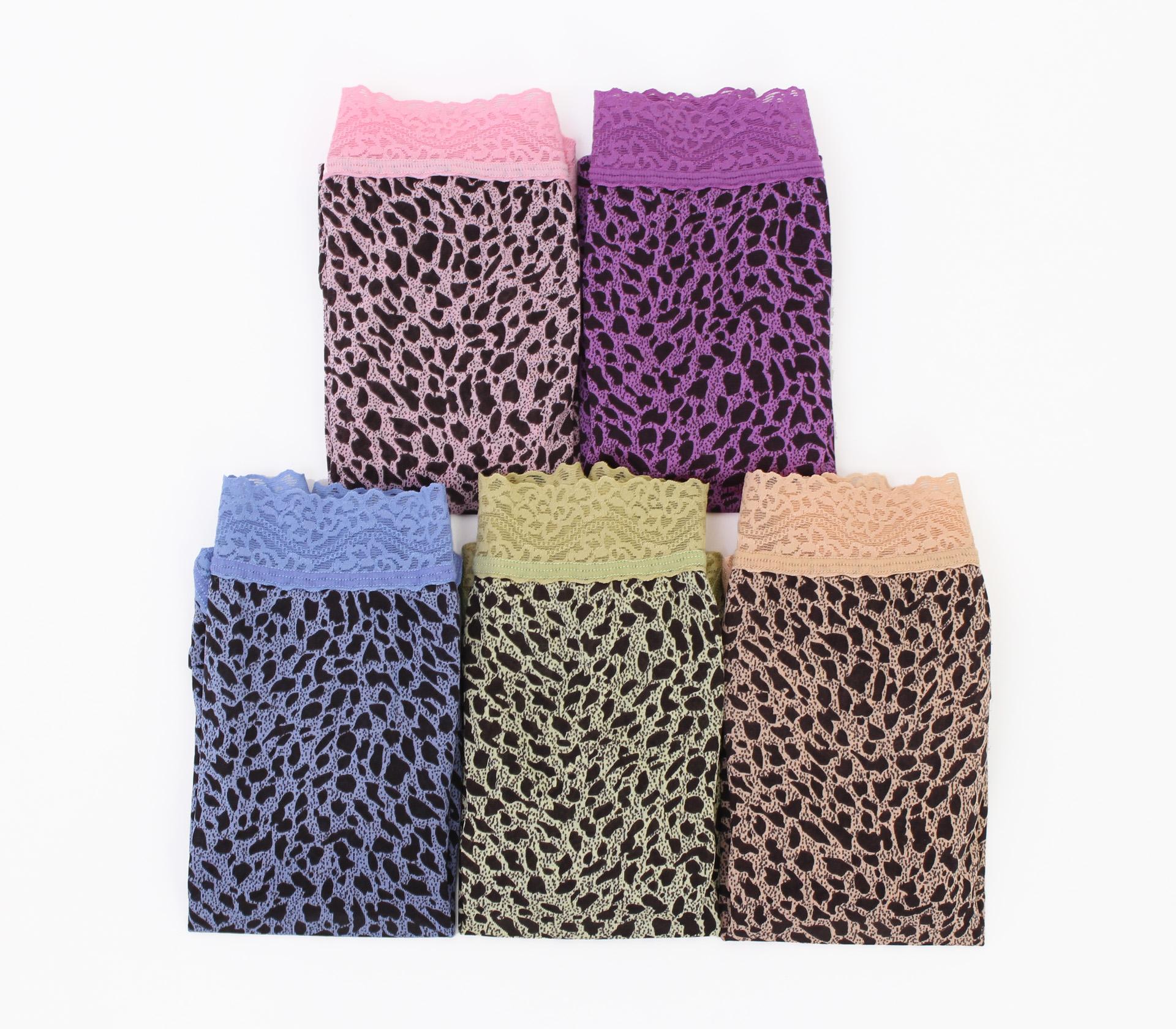闕蘭絹絕美小豹紋100%蠶絲內褲-824(五件組)