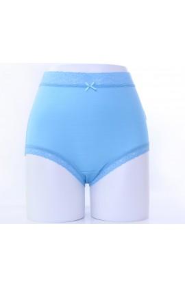 闕蘭絹親膚絲滑42針100%蠶絲內褲-88421(藍)